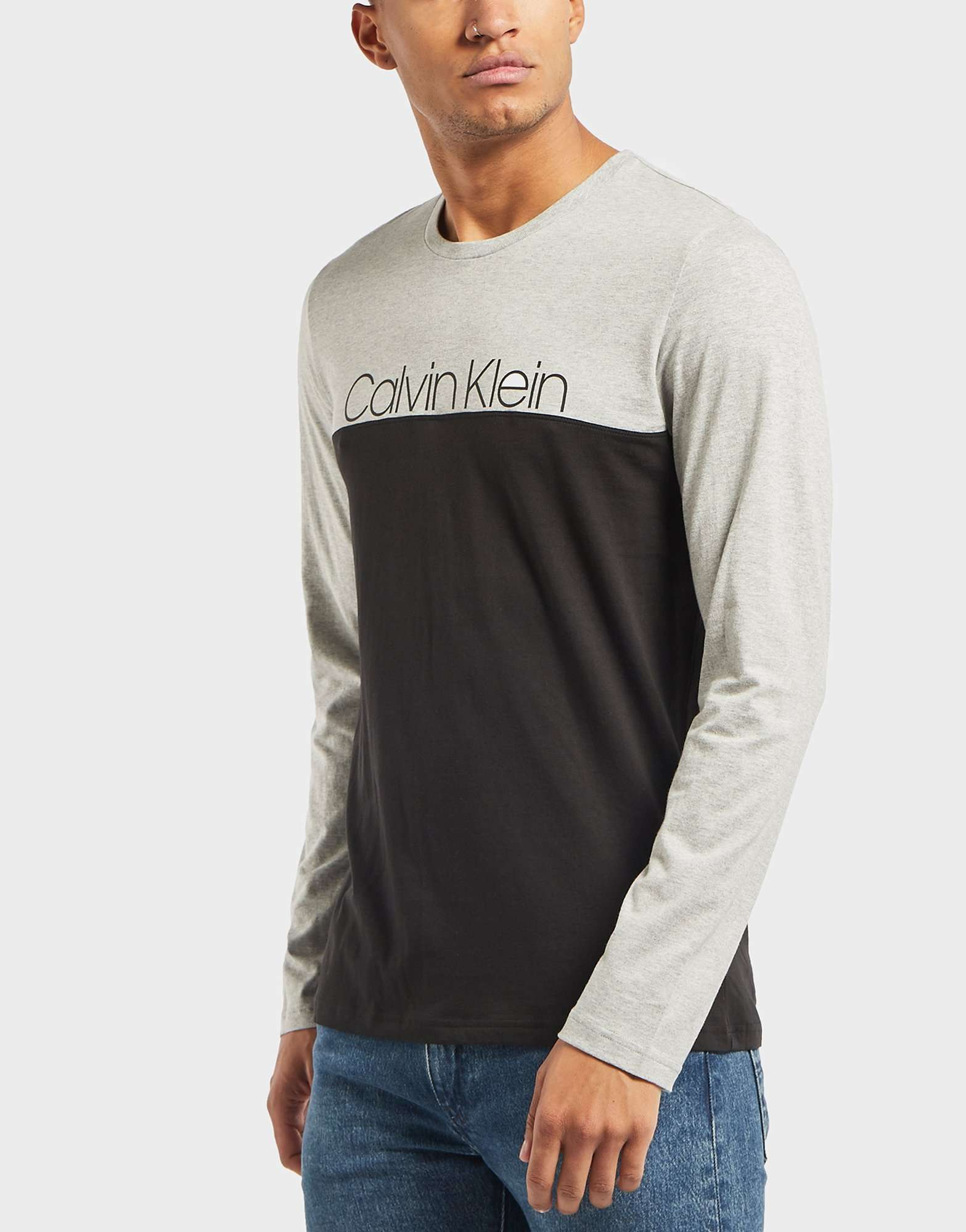 Calvin Klein Block Logo Long Sleeve T-Shirt