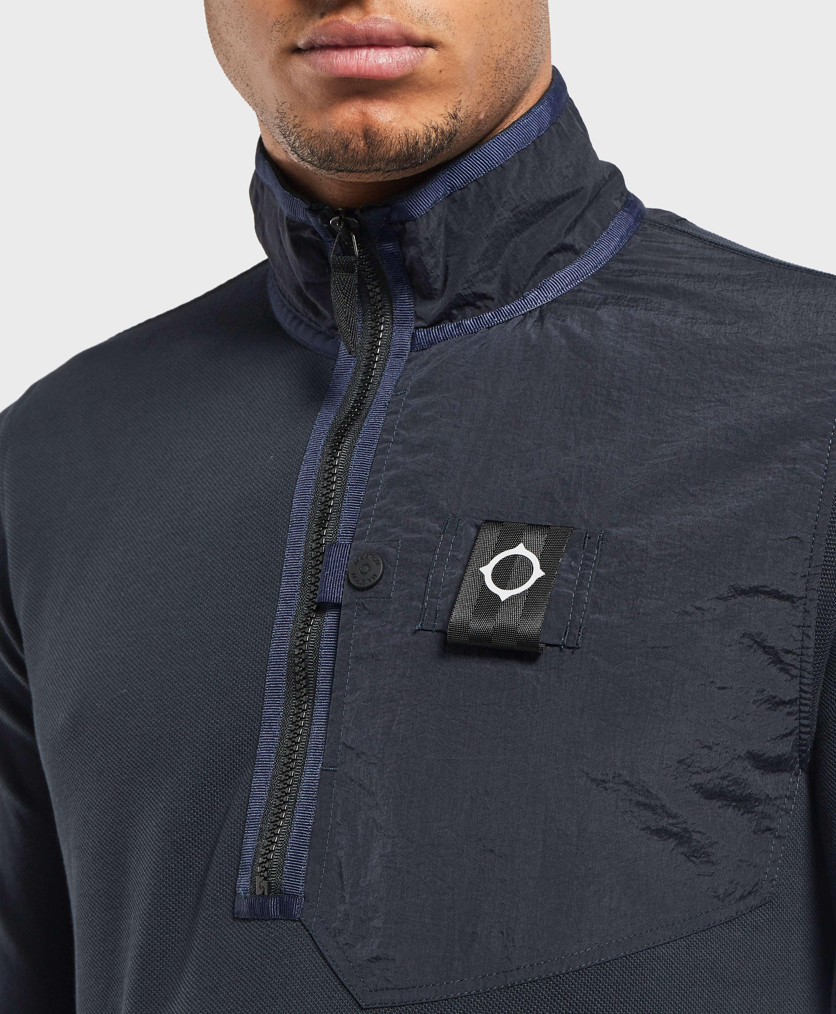 MA STRUM Panel Pocket Quarter Zip Sweatshirt