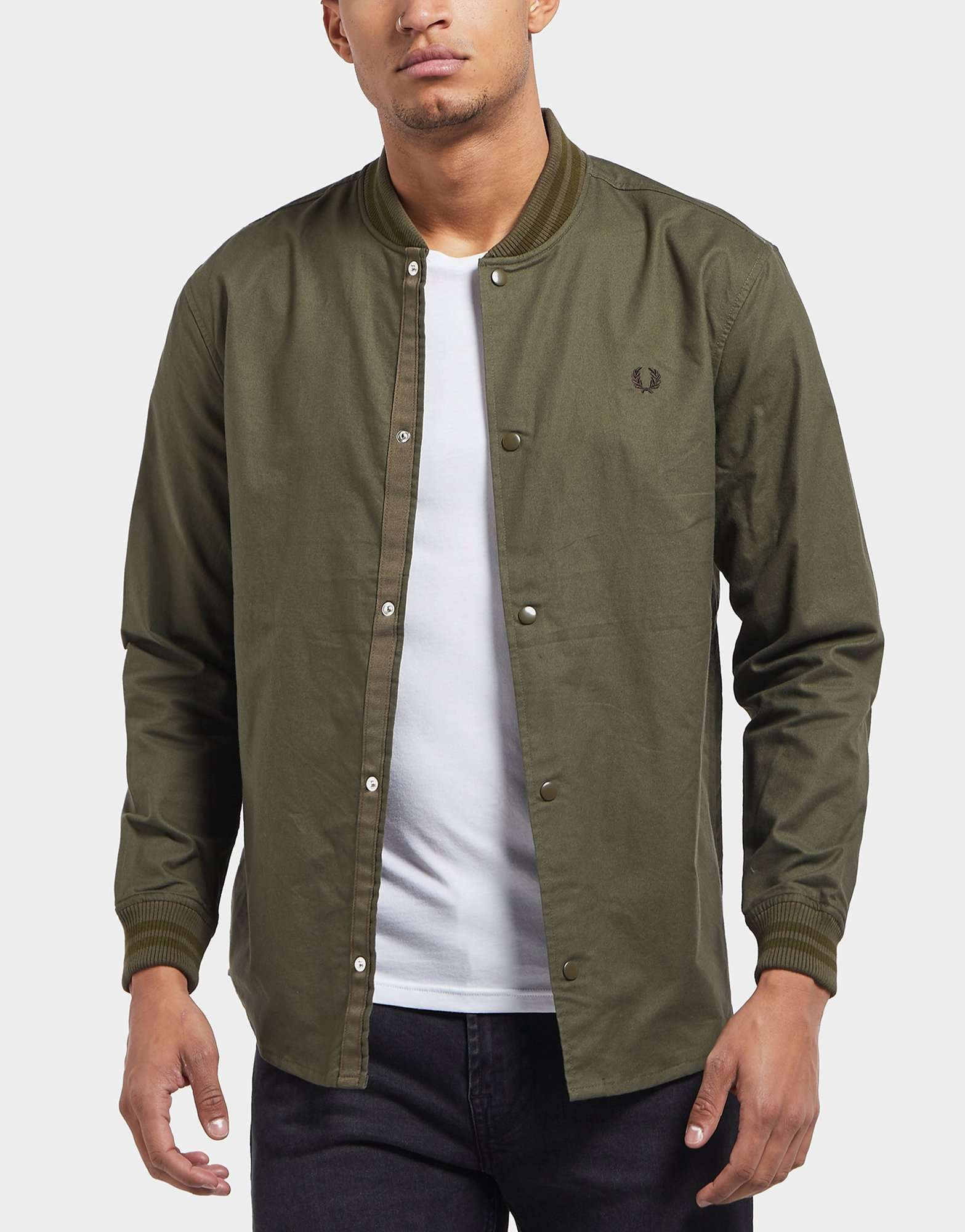 Fred Perry Long Sleeve Bomber Shirt