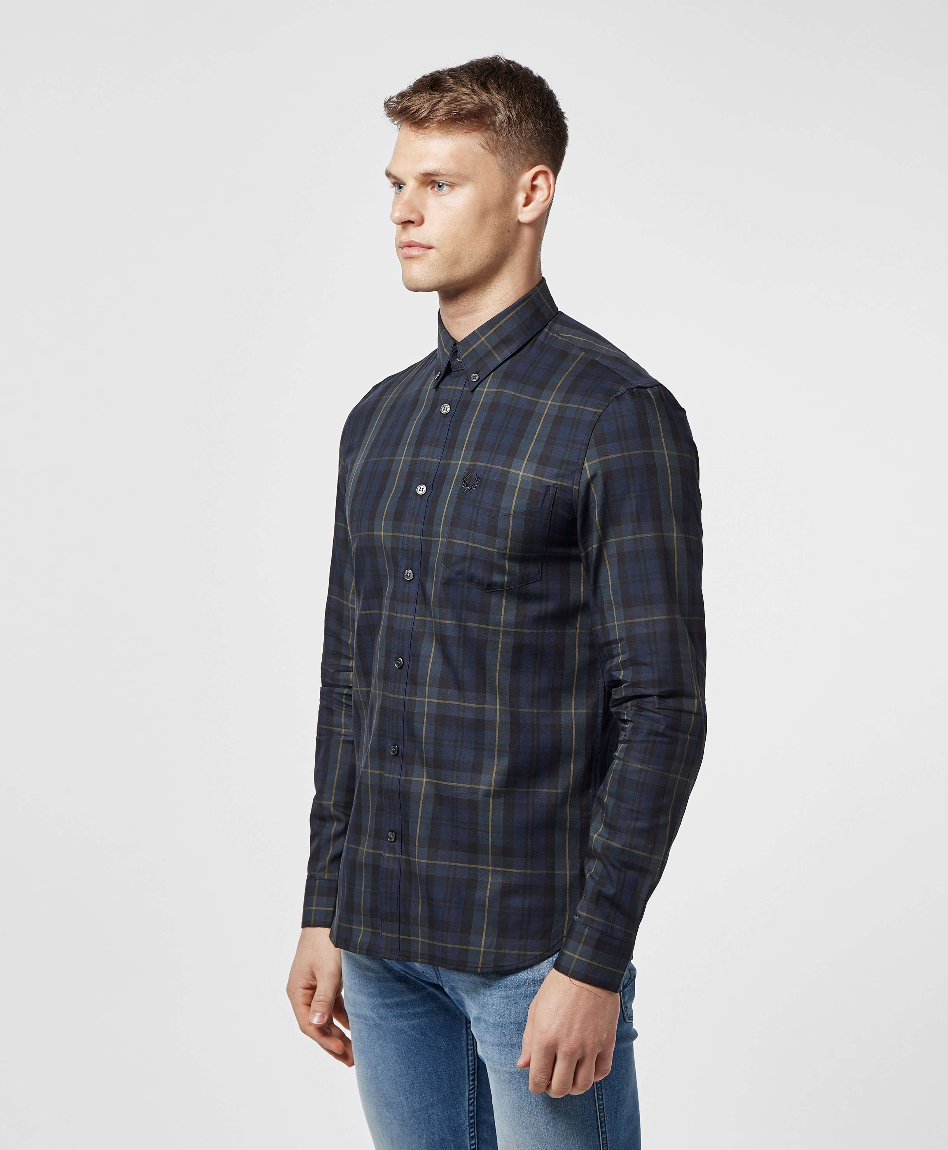 Fred Perry Contrast Tartan Long Sleeve Shirt