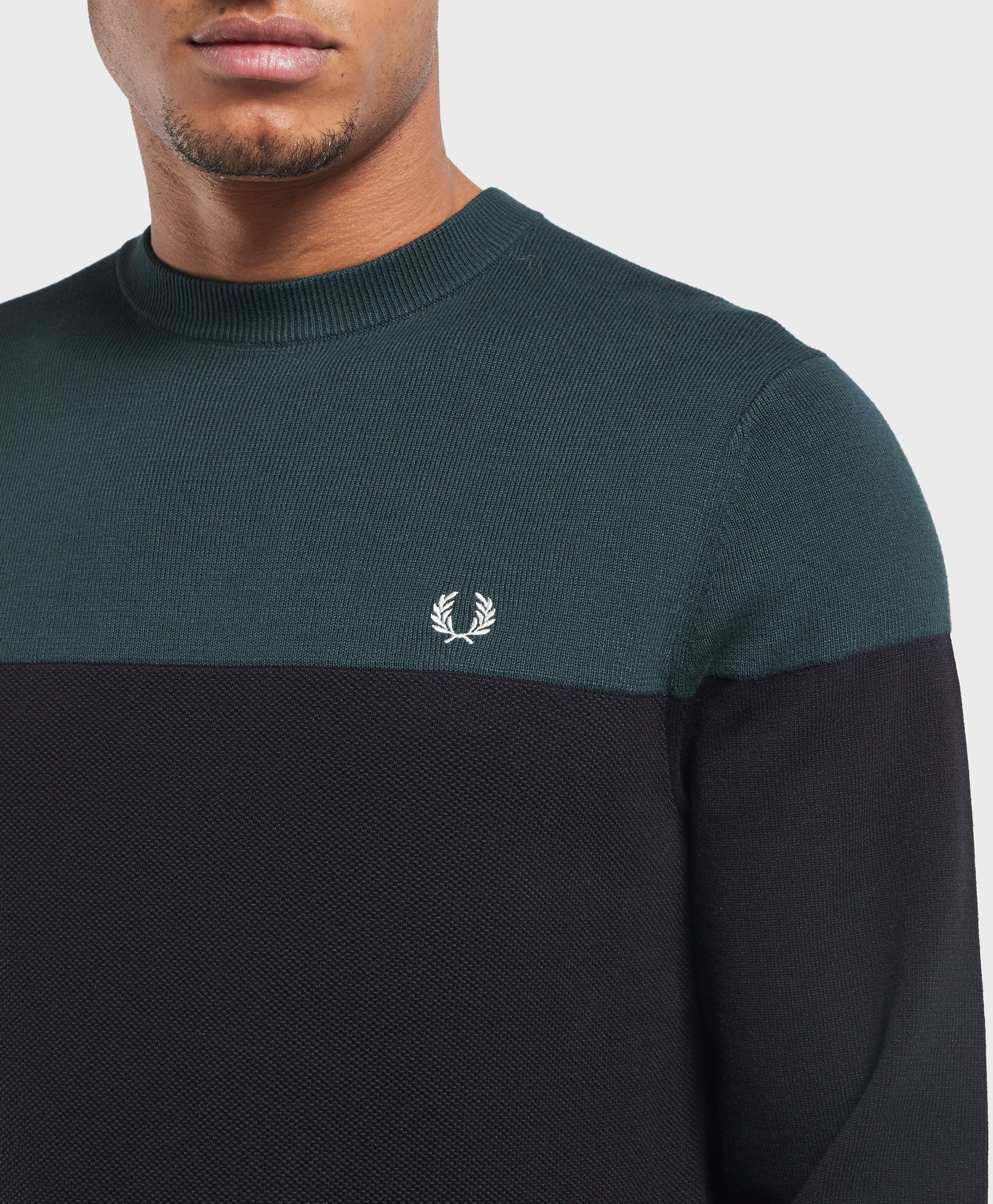 Fred Perry Panel Crew Jumper