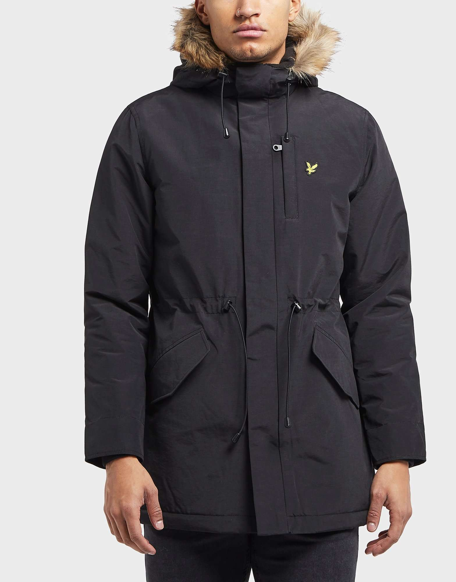 Lyle & Scott Fur Hood Padded Parka Jacket