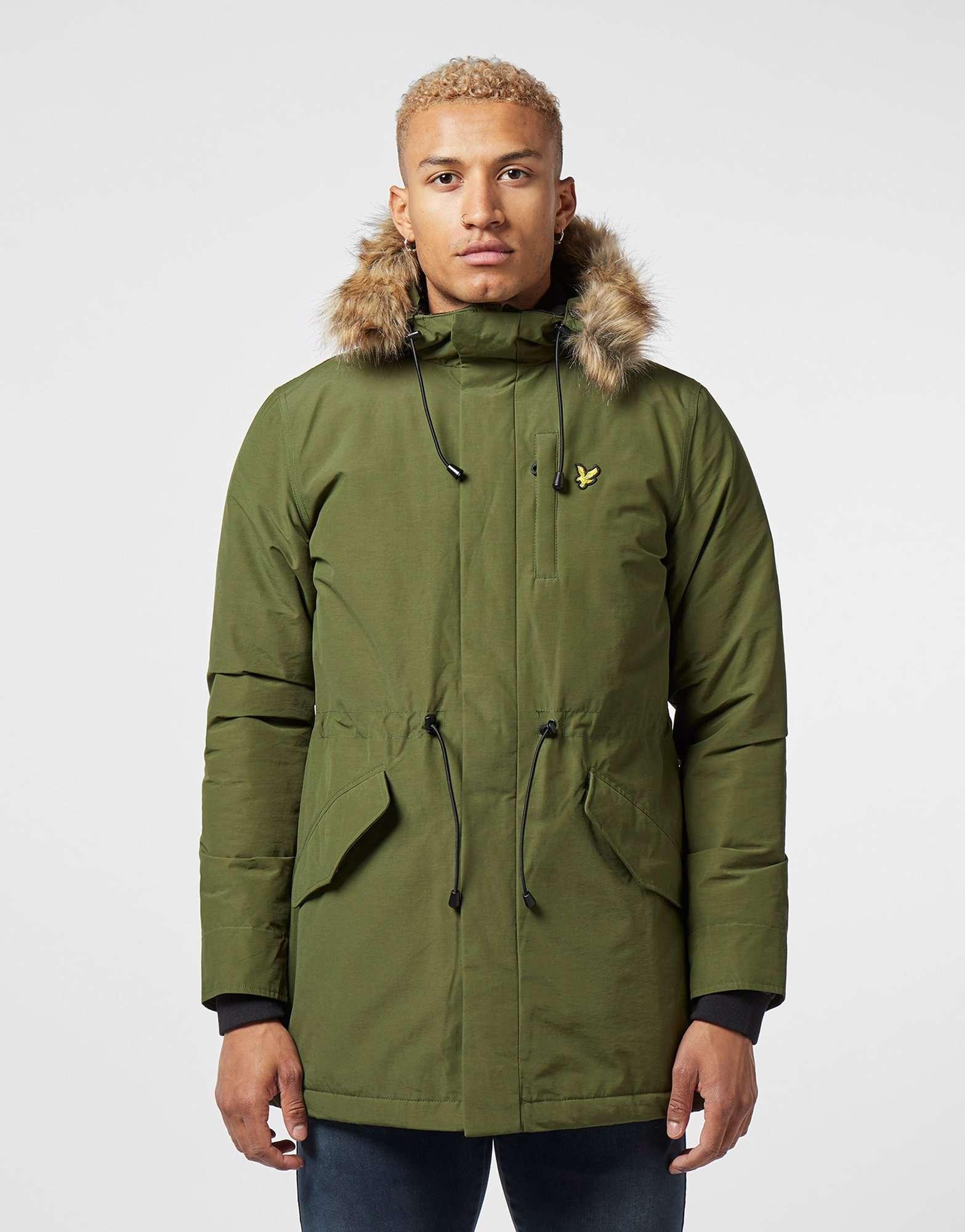 Lyle & Scott Fur Hood Padded Parka Jacket