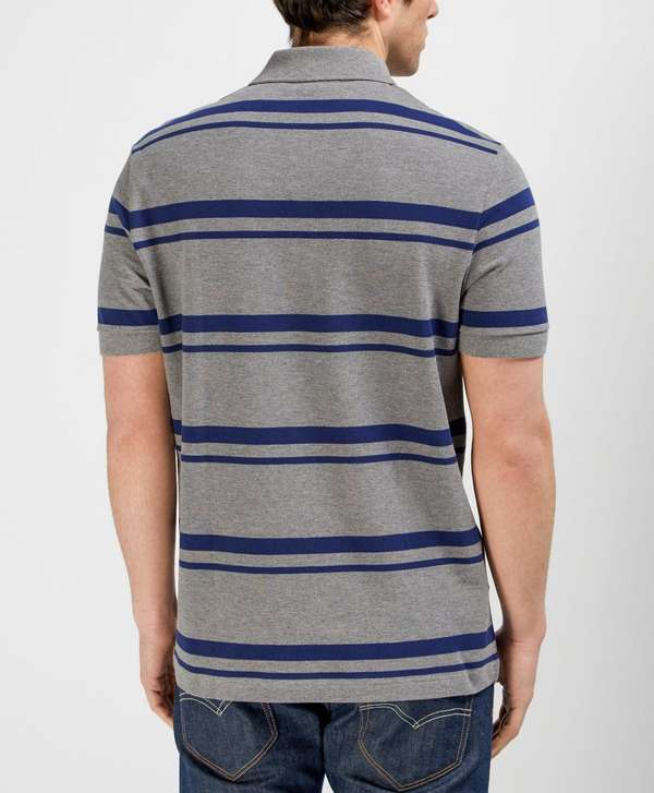 Lacoste pique stripe polo shirt scotts menswear for Lacoste stripe pique polo shirt