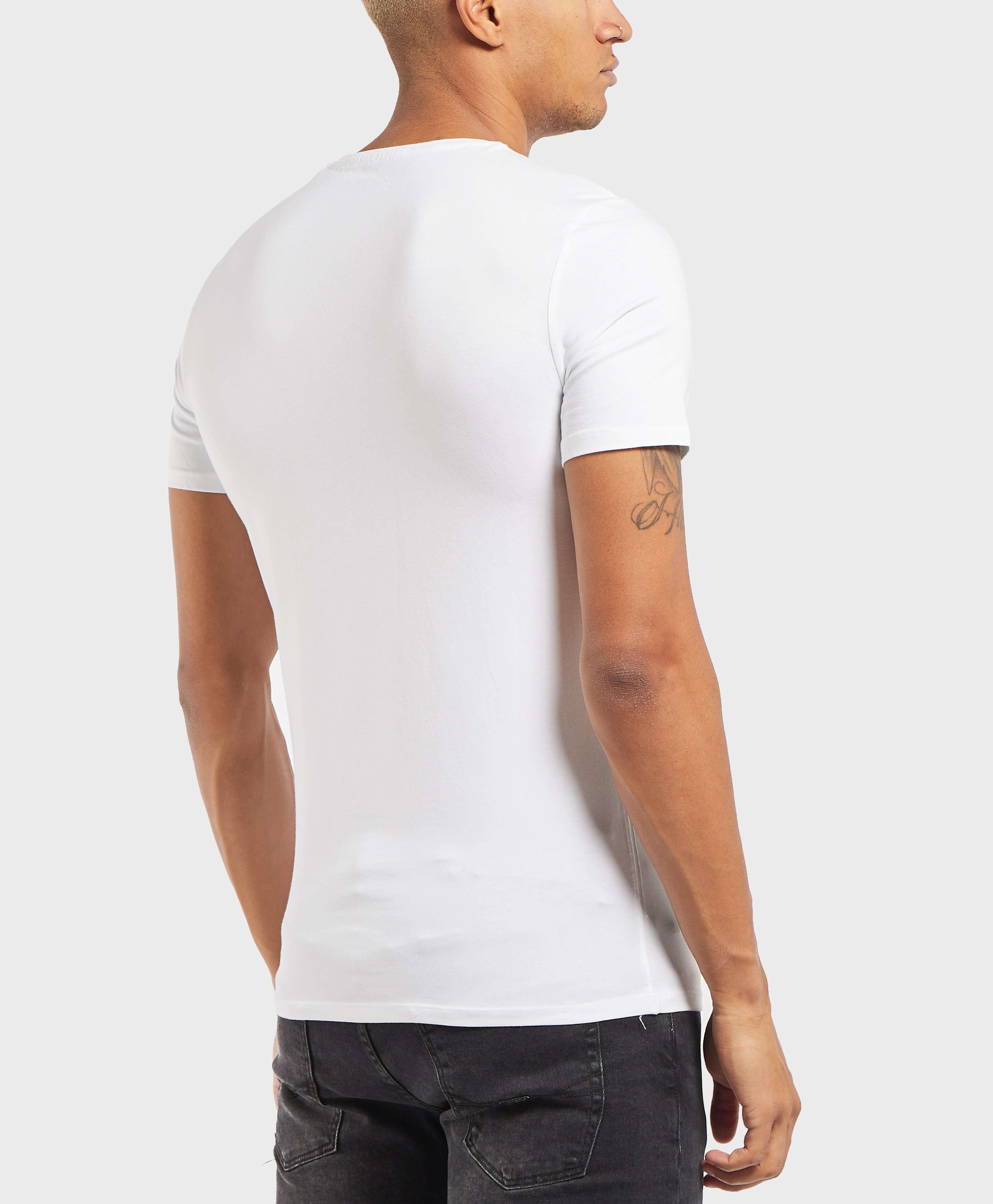 GUESS Torn Logo Short Sleeve T-Shirt