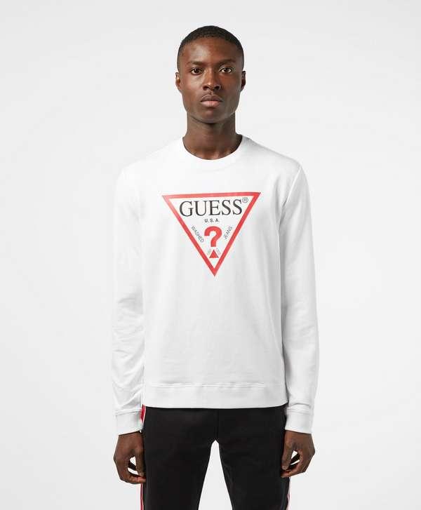cc595dff2db8 GUESS Triangle Logo Sweatshirt ...