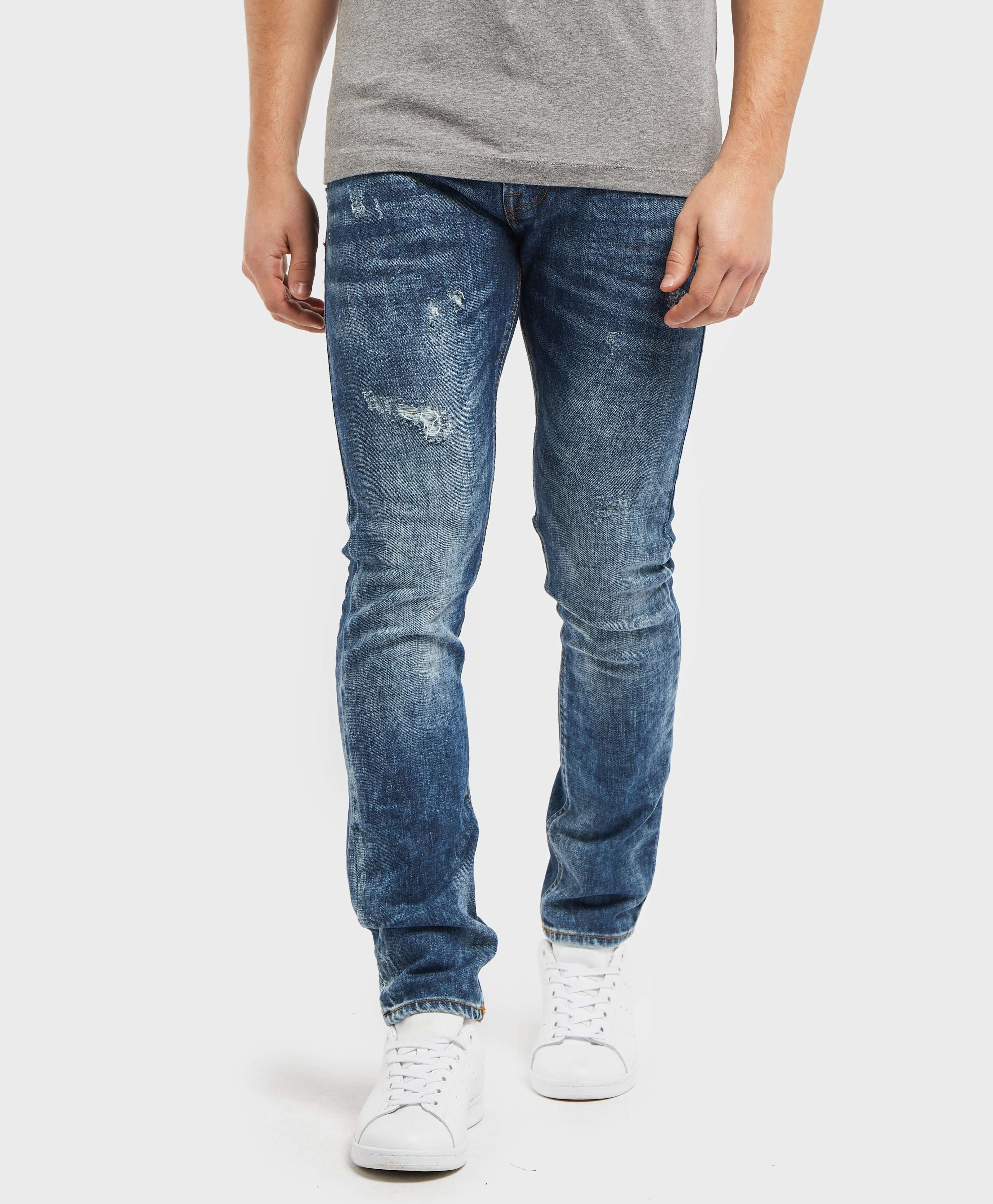 GUESS Miami Skinny Ripped Jeans