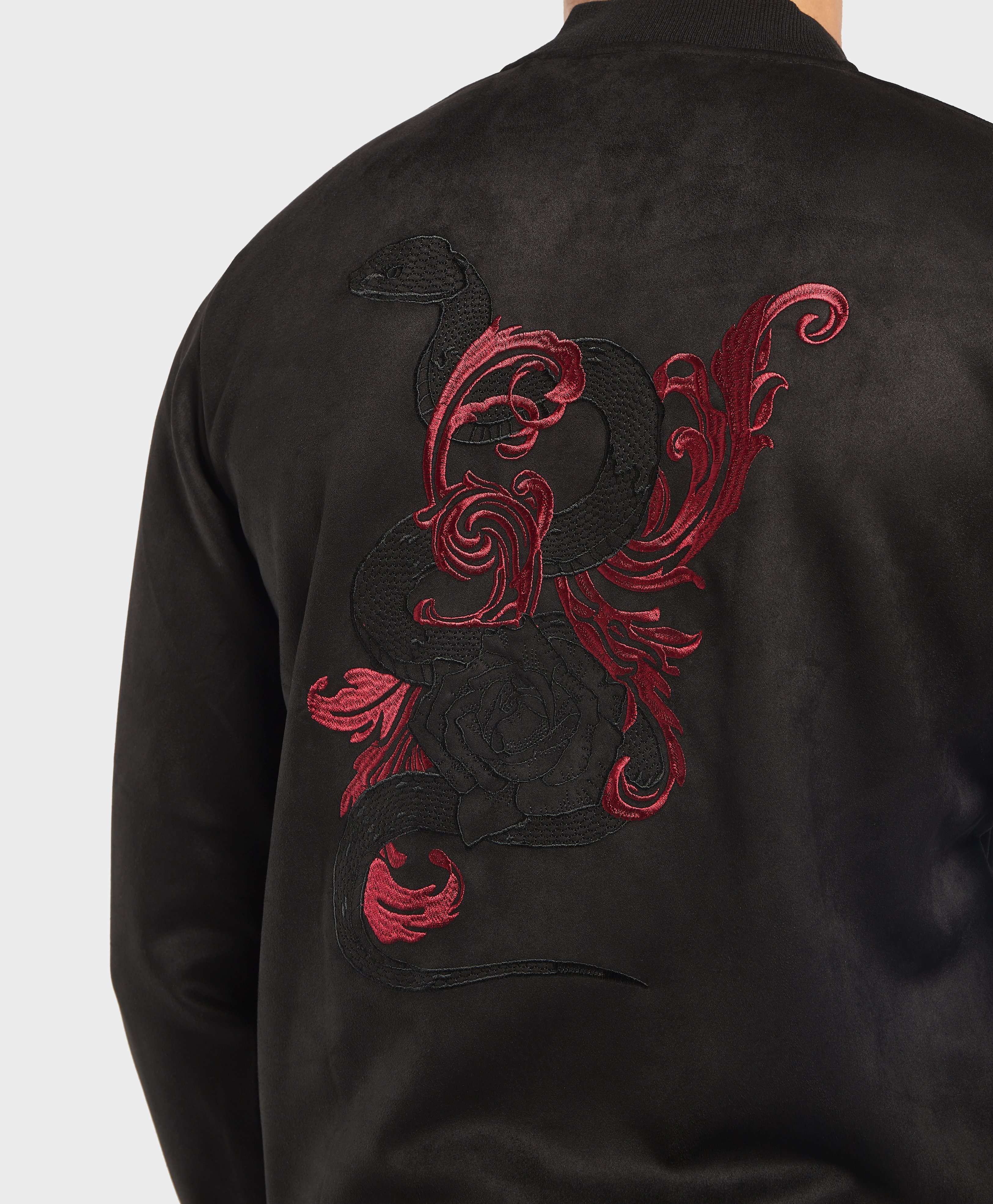GUESS Embroidered Bomber Jacket