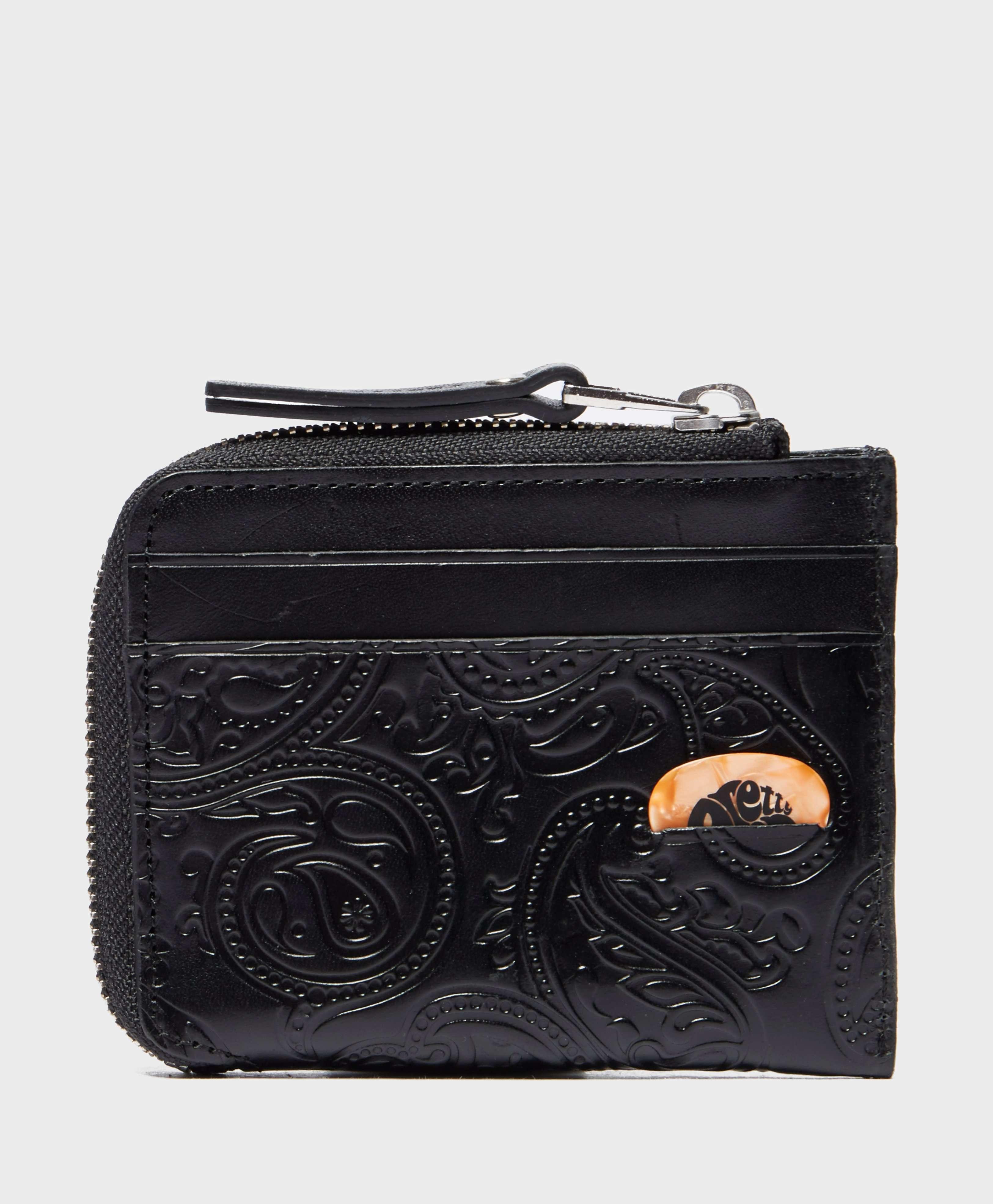 Pretty Green Paisley Embossed Zip Wallet - Online Exclusive