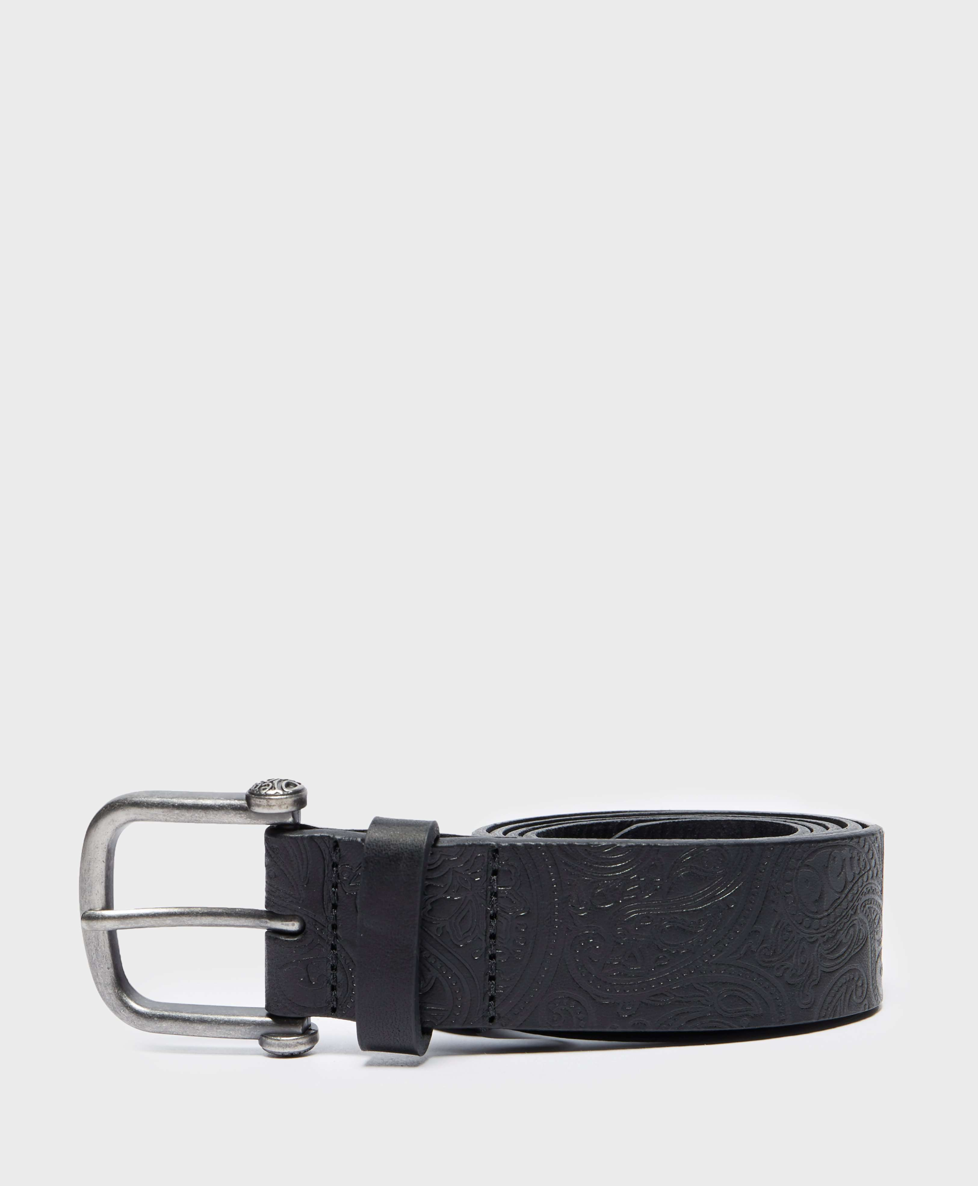 Pretty Green Paisley Embossed Belt - Online Exclusive