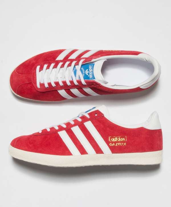 Adidas Menswear - Adidas Originals Gazelle Trainers Red