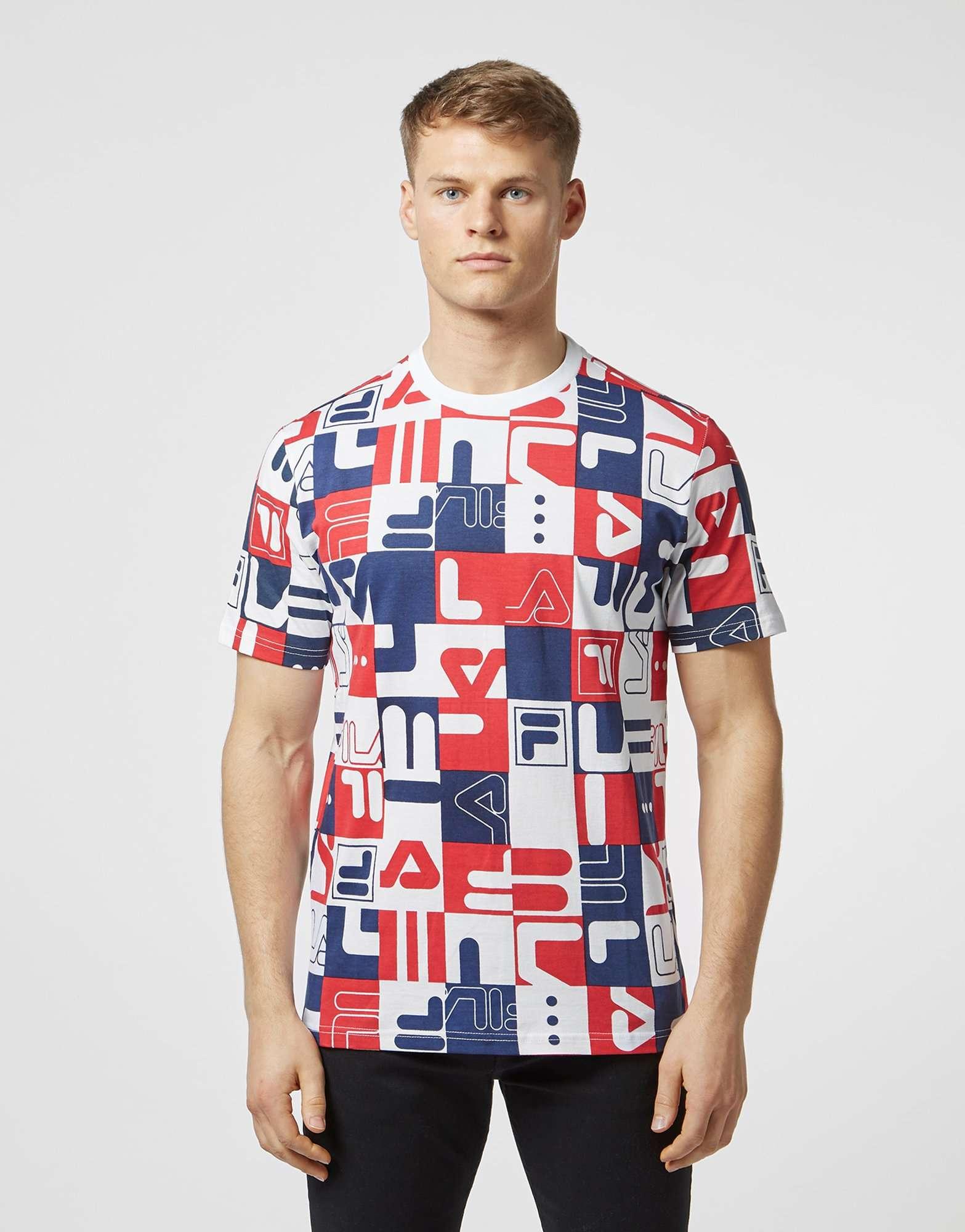 Fila Archive Print Short Sleeve T-Shirt