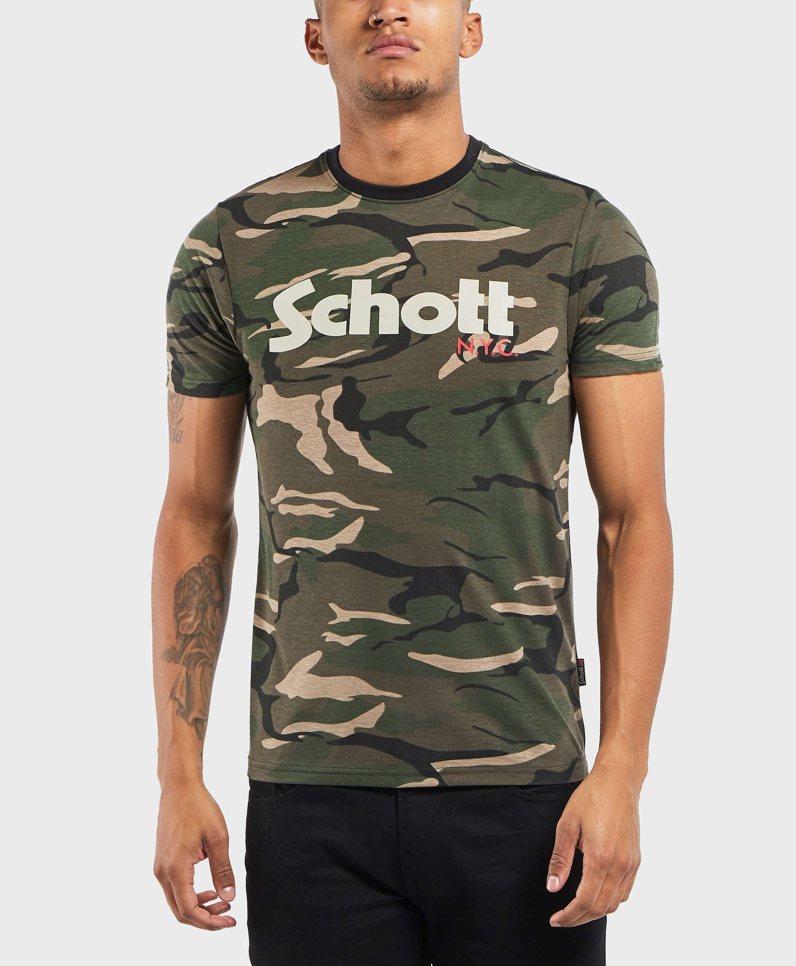 Schott Short Sleeve Logo T-Shirt