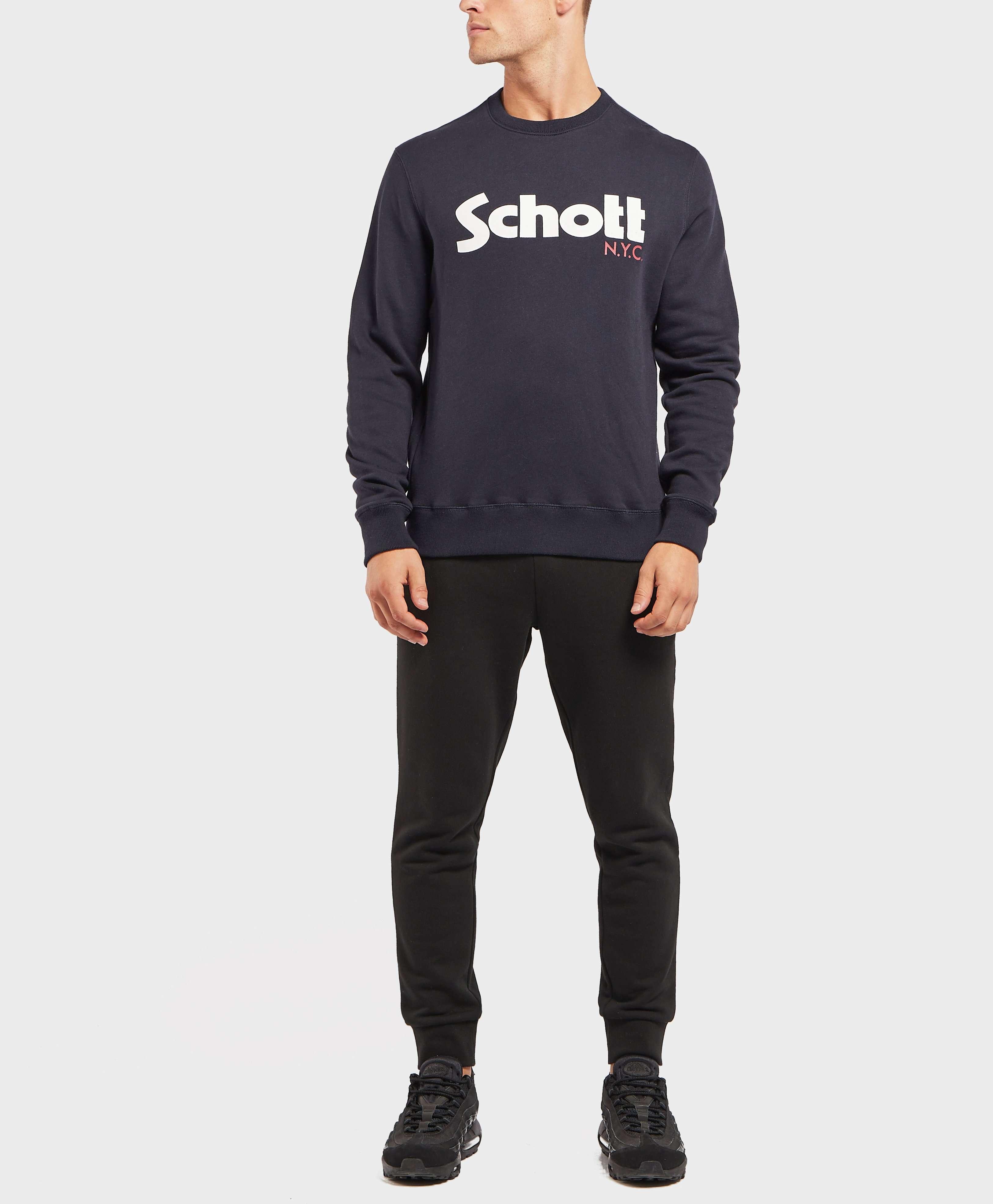 Schott Logo Crew Sweatshirt
