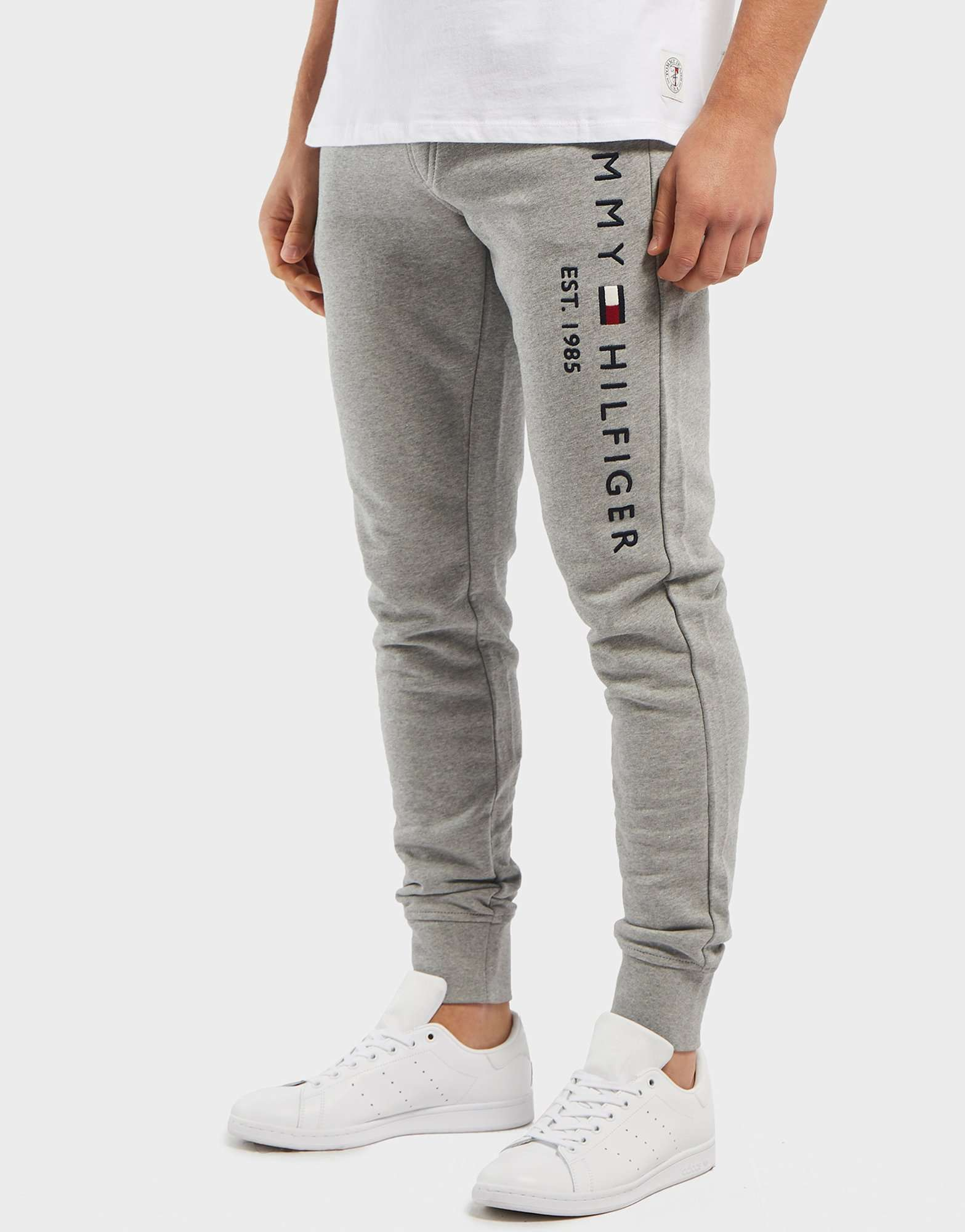 Tommy Hilfiger Logo Cuffed Fleece Pants