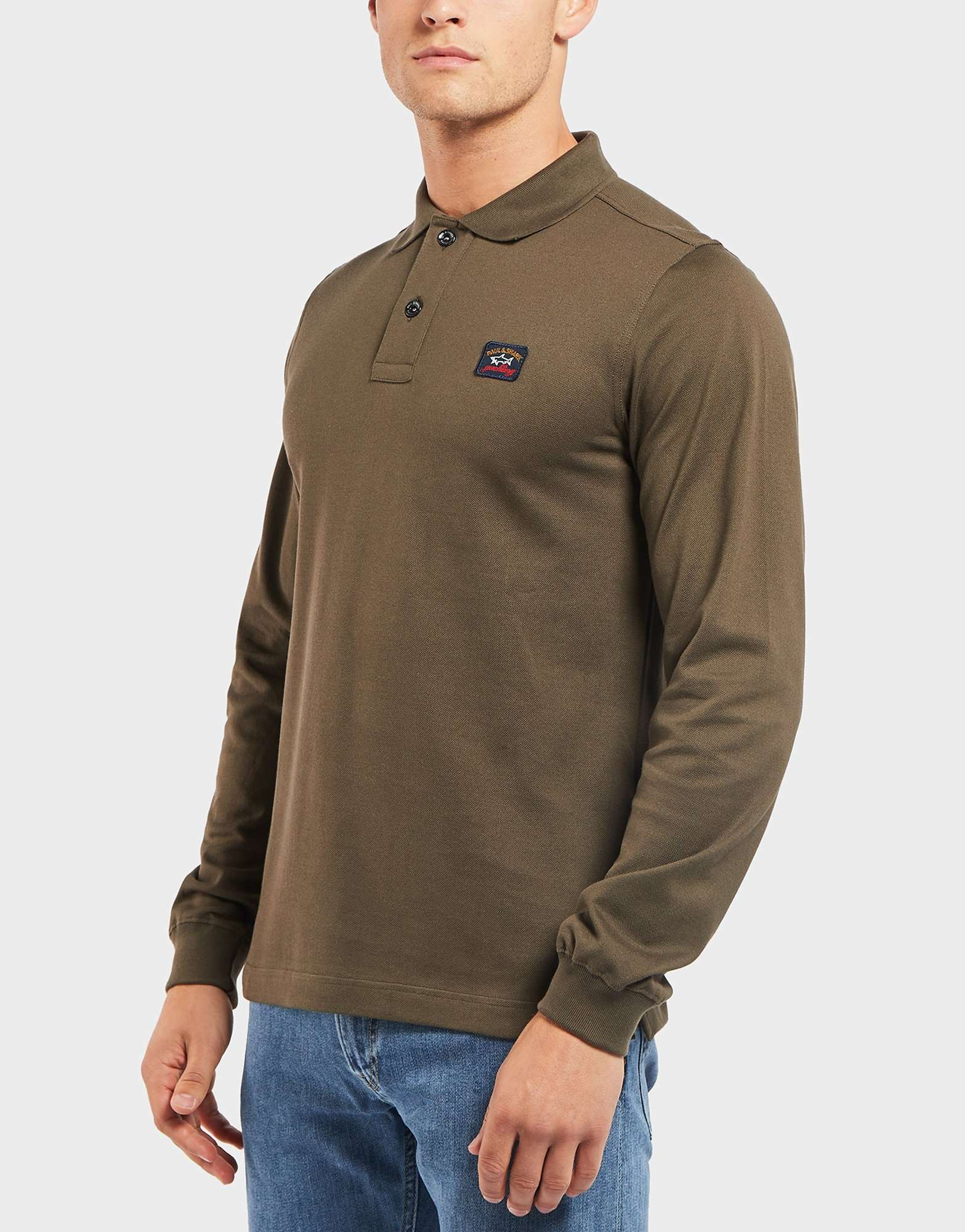 Paul and Shark Pique Long Sleeve Polo Shirt