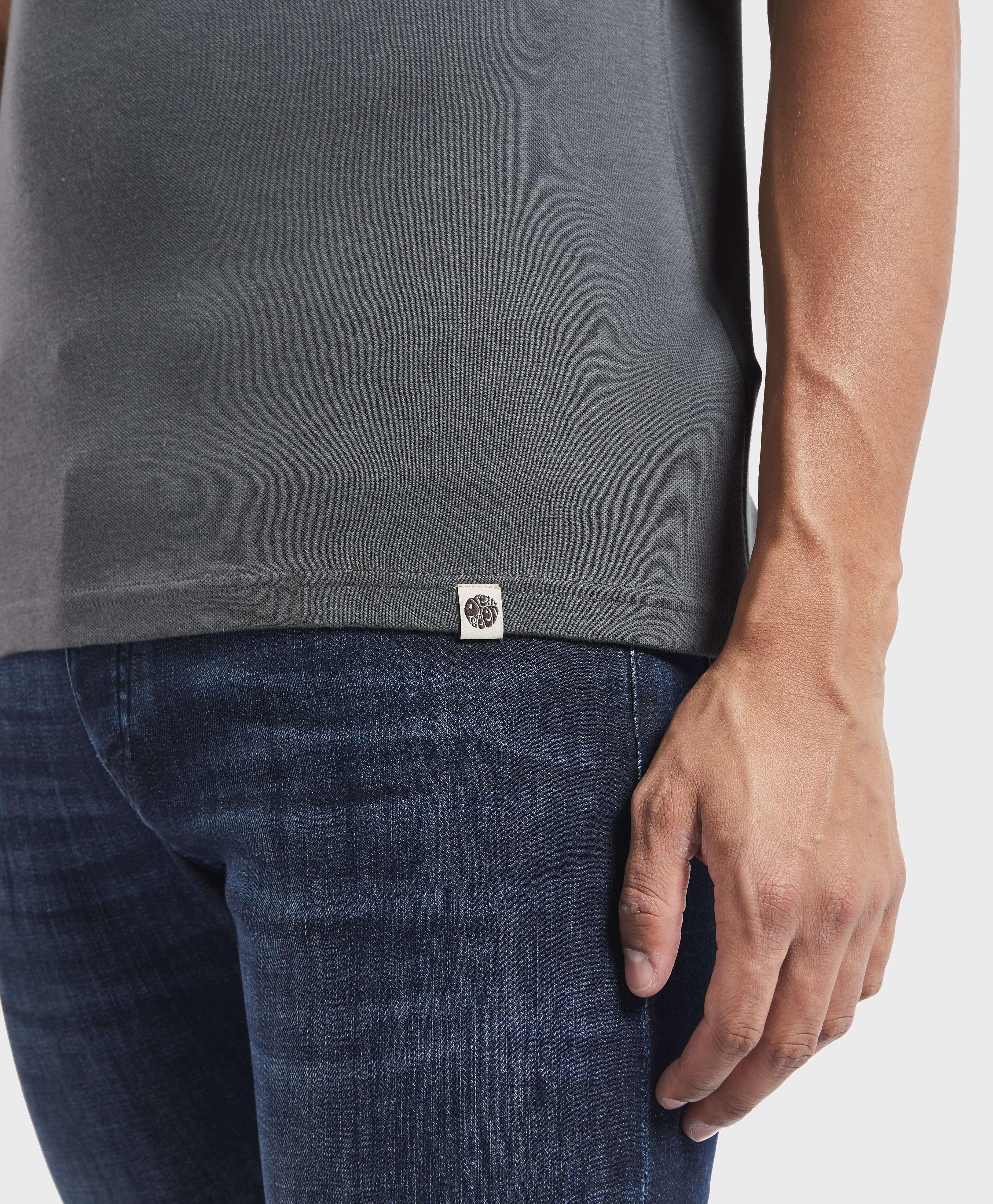 Pretty Green Faraday Zip Short Sleeve Polo Shirt