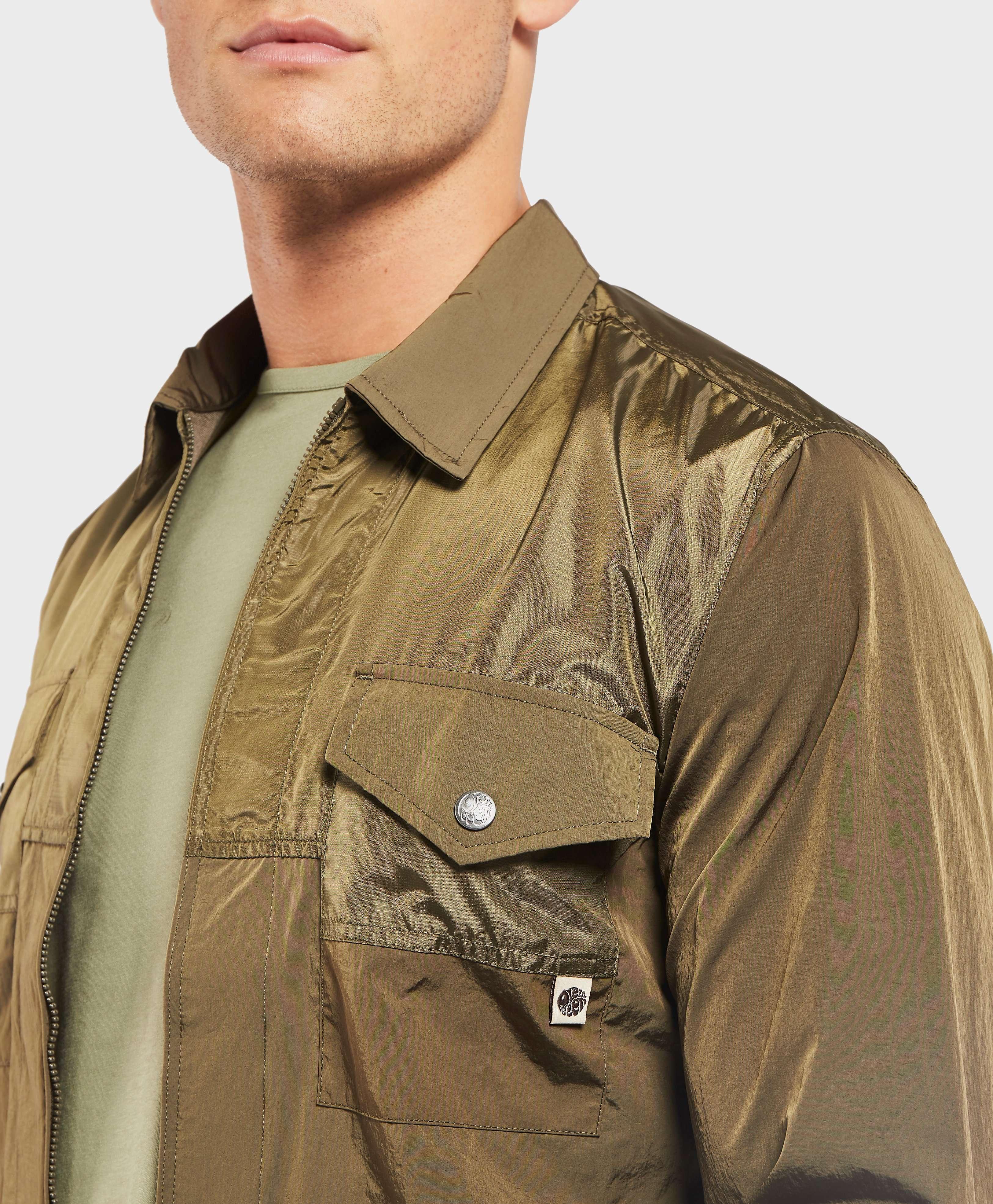 Pretty Green Robinia Full Zip Nylon Overshirt
