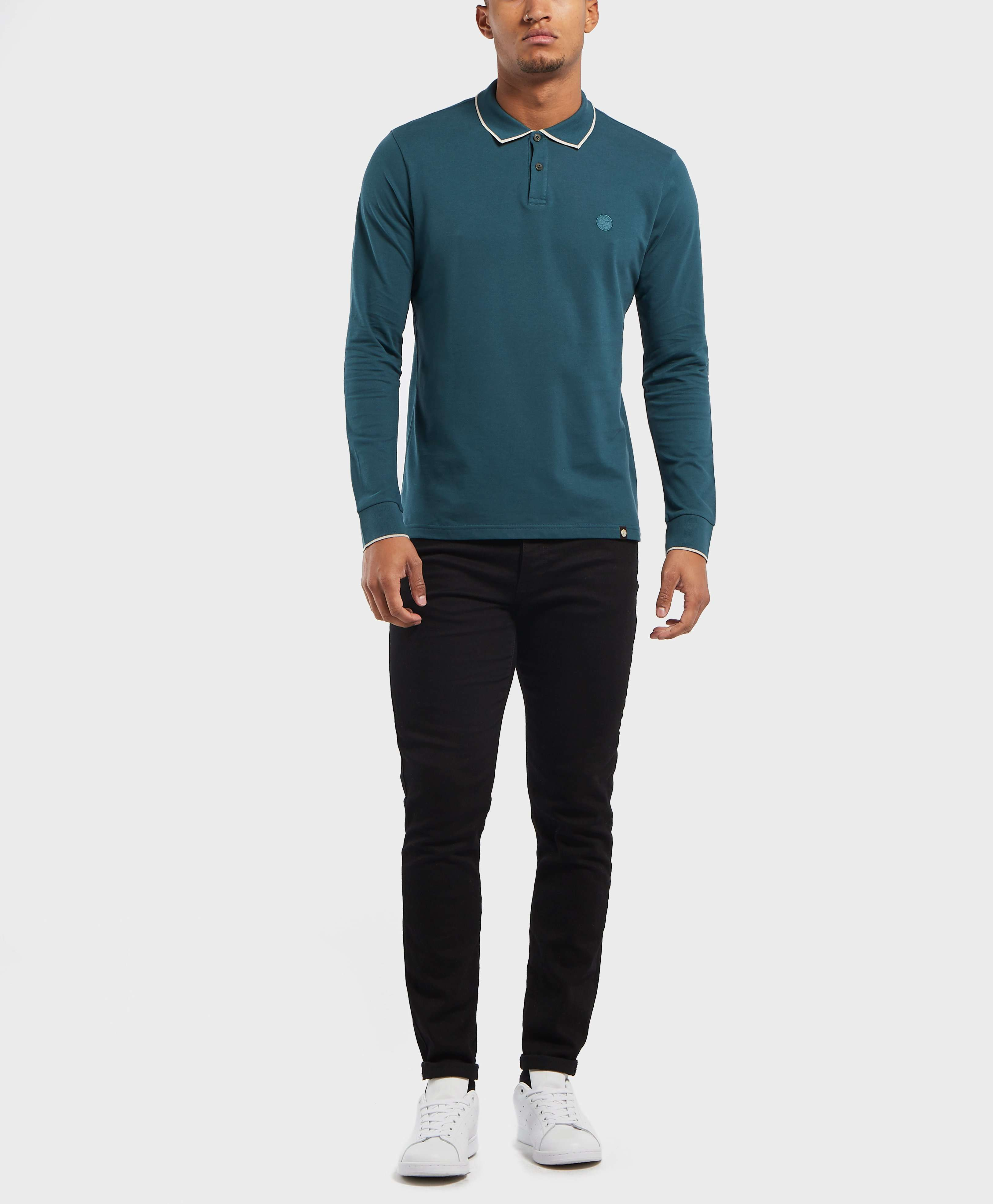 Pretty Green Barcombe Long Sleeve Polo Shirt