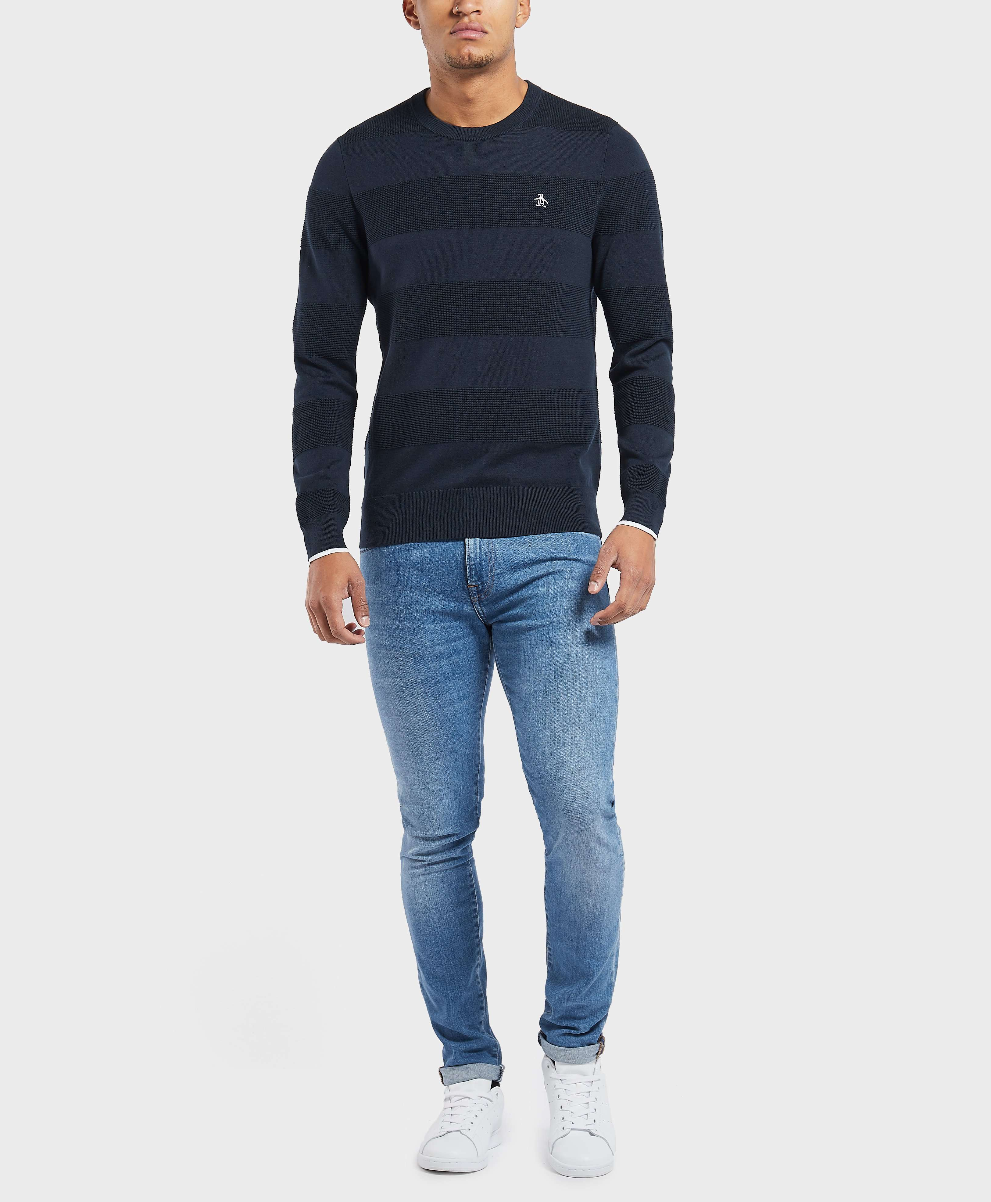 Original Penguin Band Crew Knitted Jumper