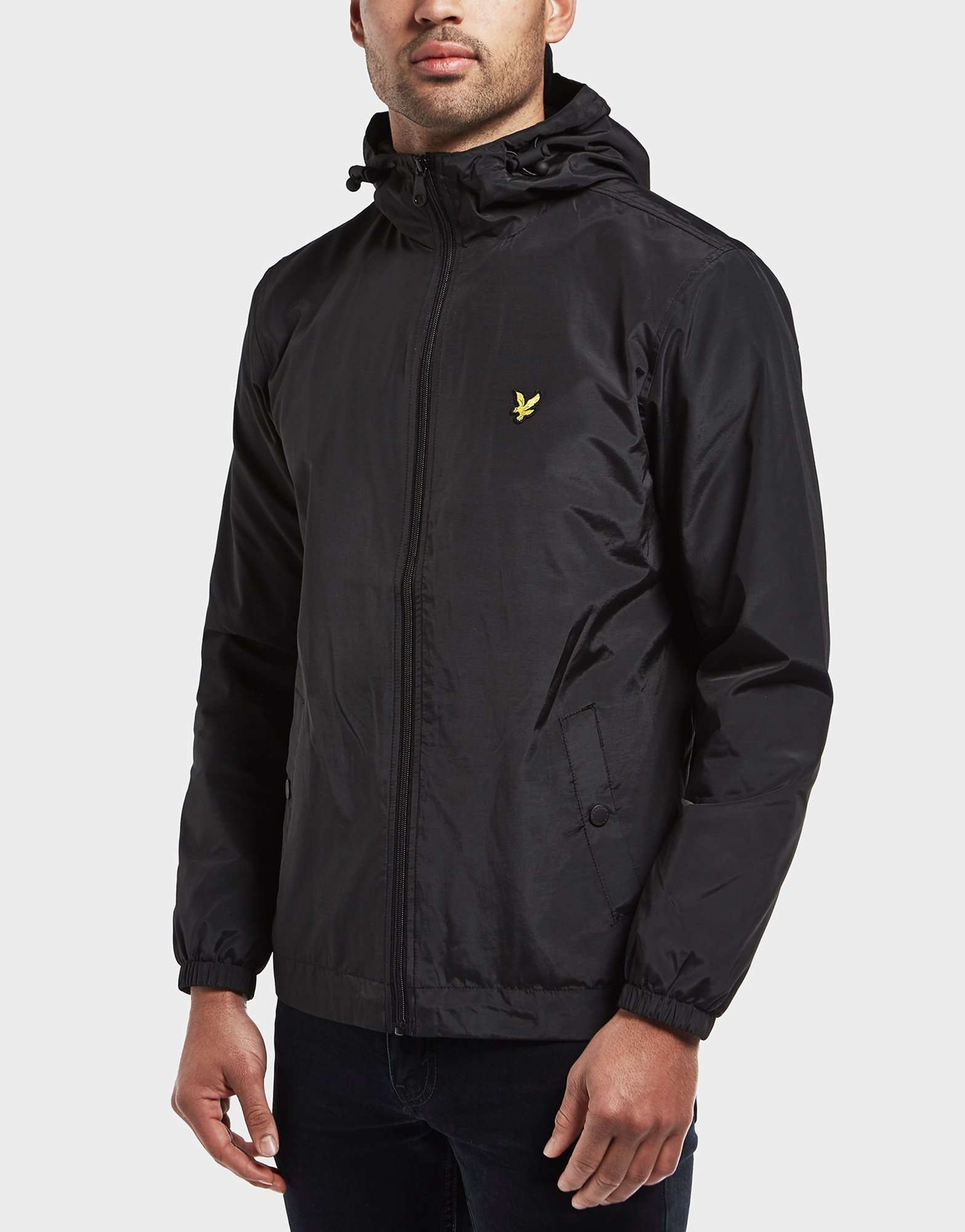 lyle scott full zip hooded lightweight jacket scotts menswear. Black Bedroom Furniture Sets. Home Design Ideas