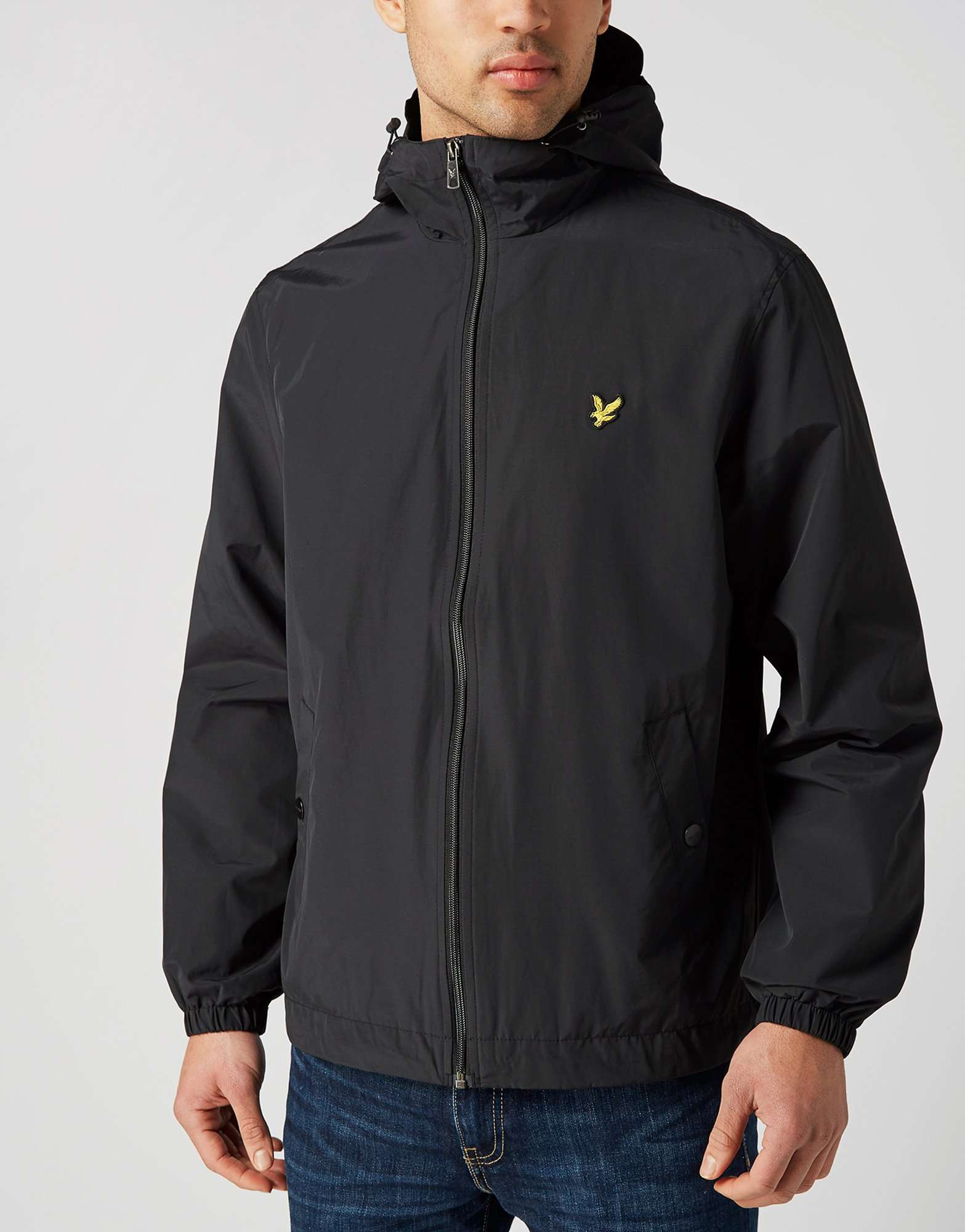 lyle scott nylon hooded jacket scotts menswear. Black Bedroom Furniture Sets. Home Design Ideas
