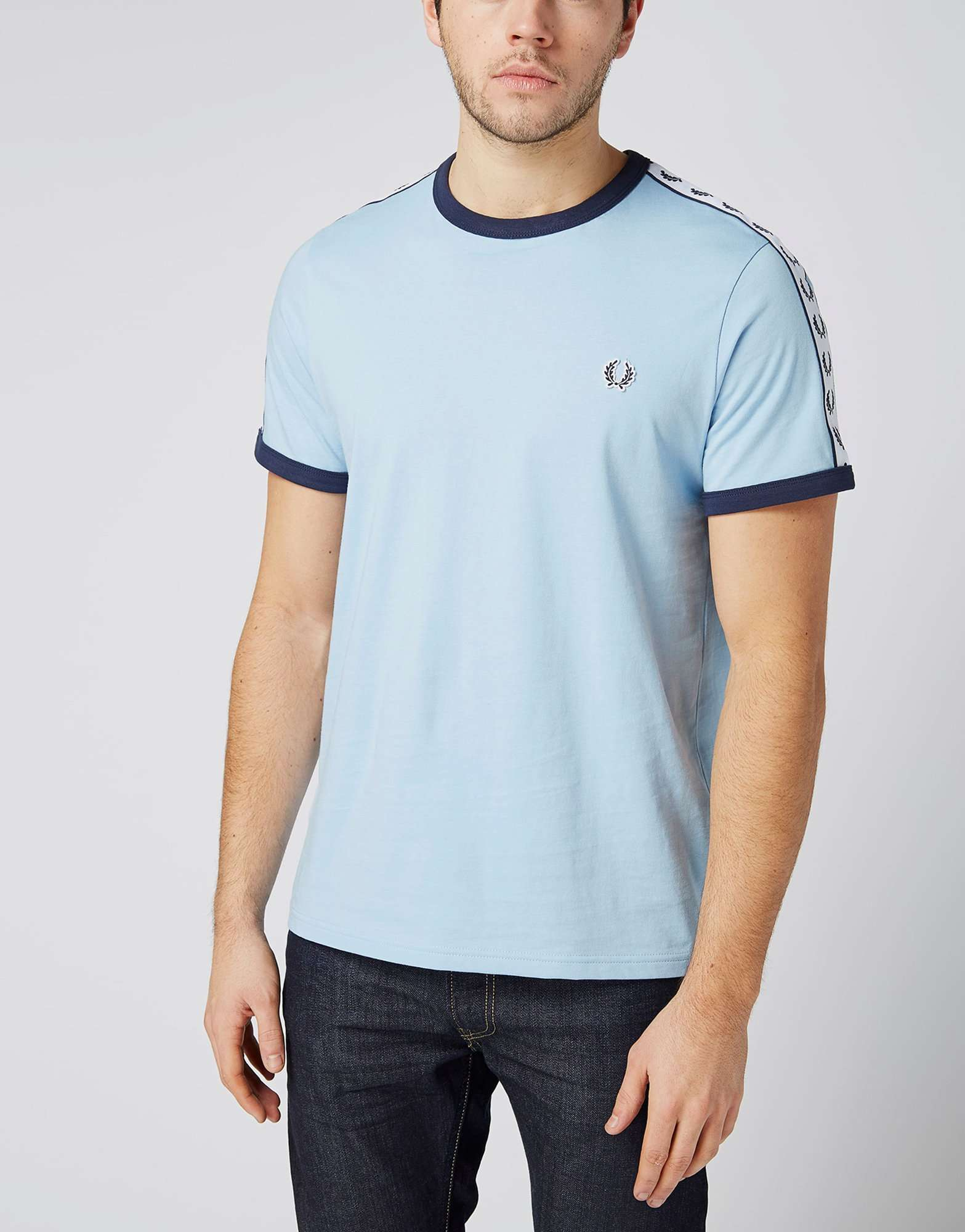 fred perry taped retro ringer t shirt scotts menswear. Black Bedroom Furniture Sets. Home Design Ideas