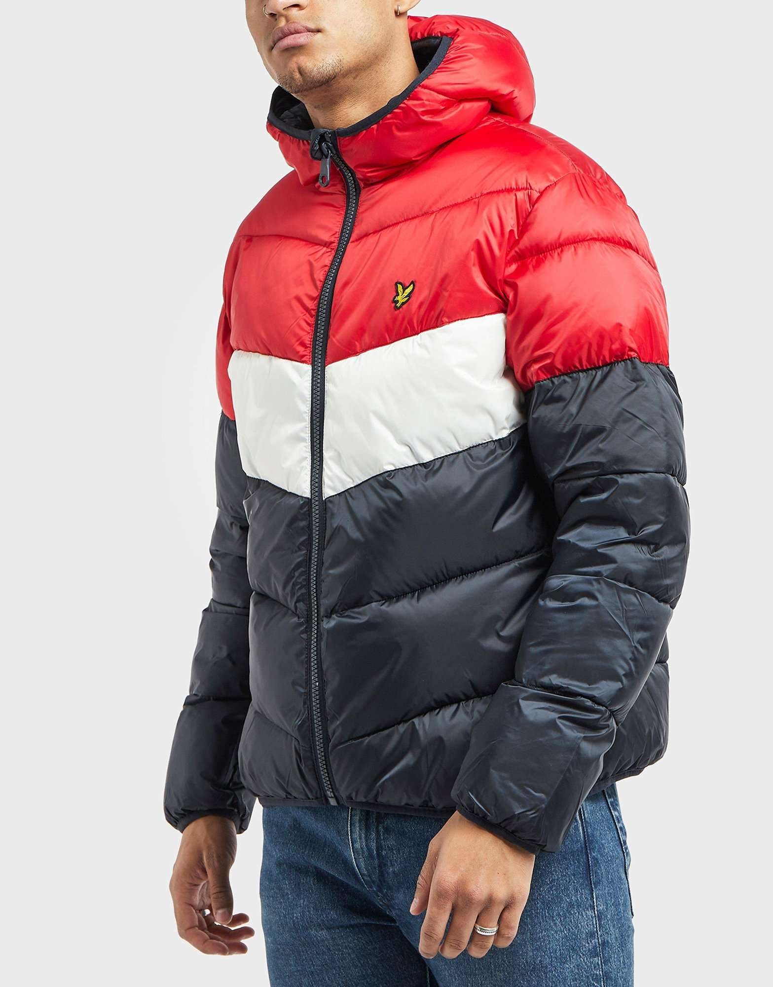 Lyle & Scott Colour Block Padded Jacket - Online Exclusive