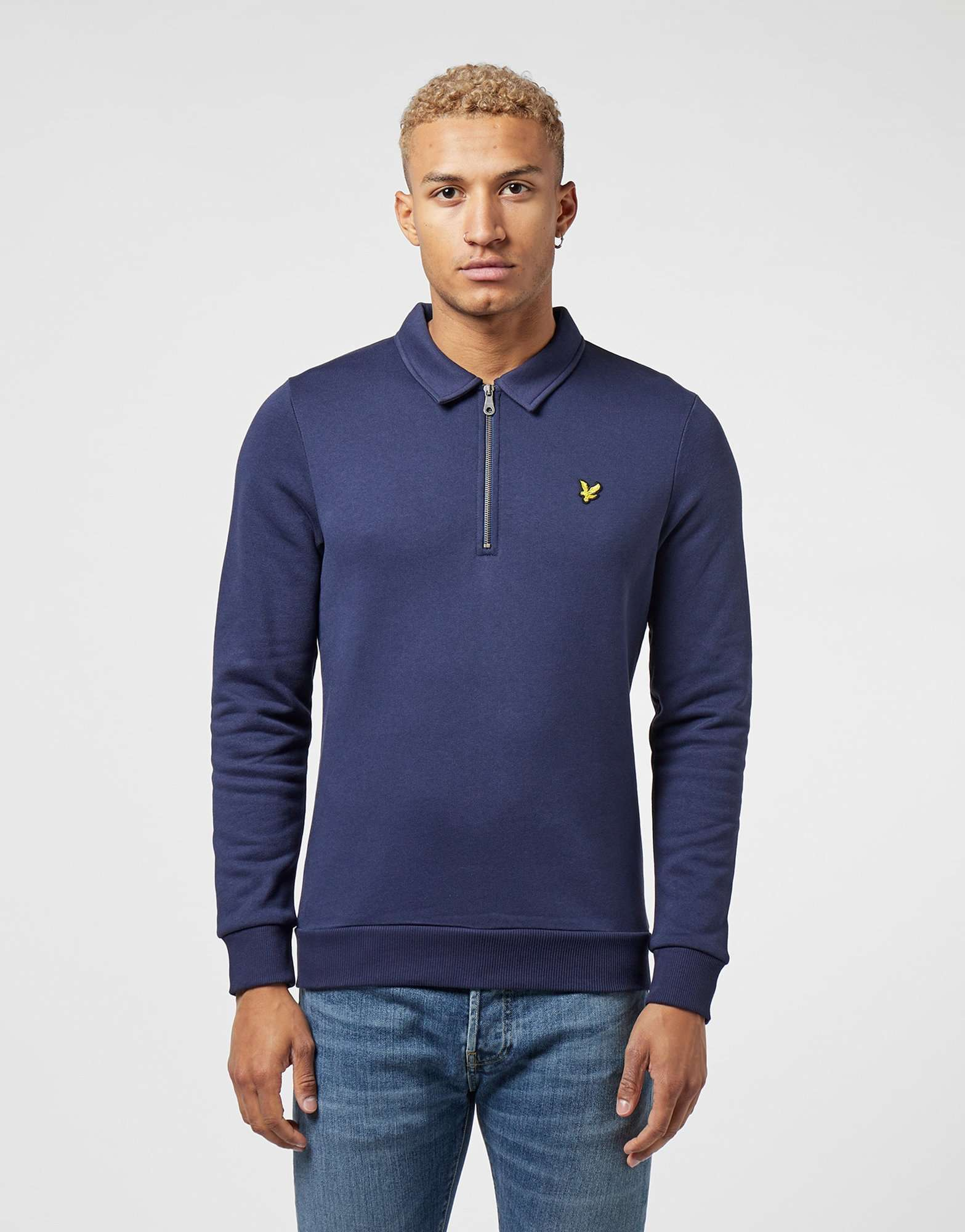 Lyle & Scott Quarter Zip Collar Sweatshirt