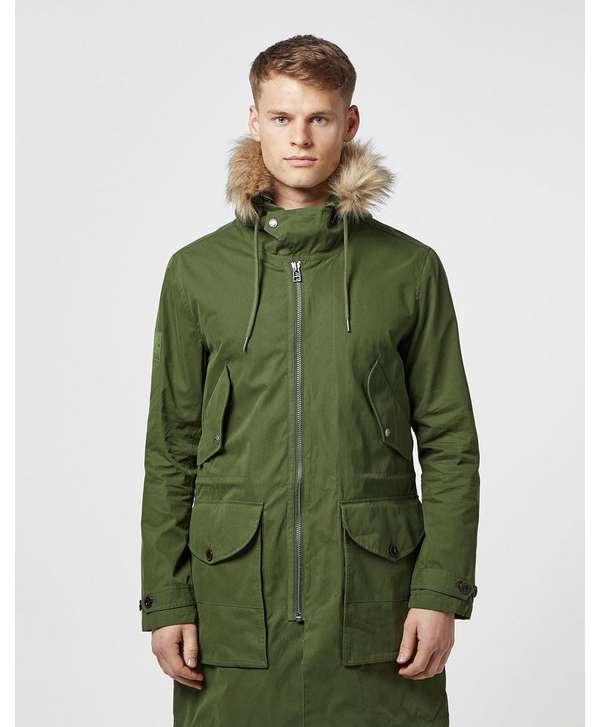 4181c08347a03 Pretty Green Faux Fur Trim Hooded Parka Jacket ...