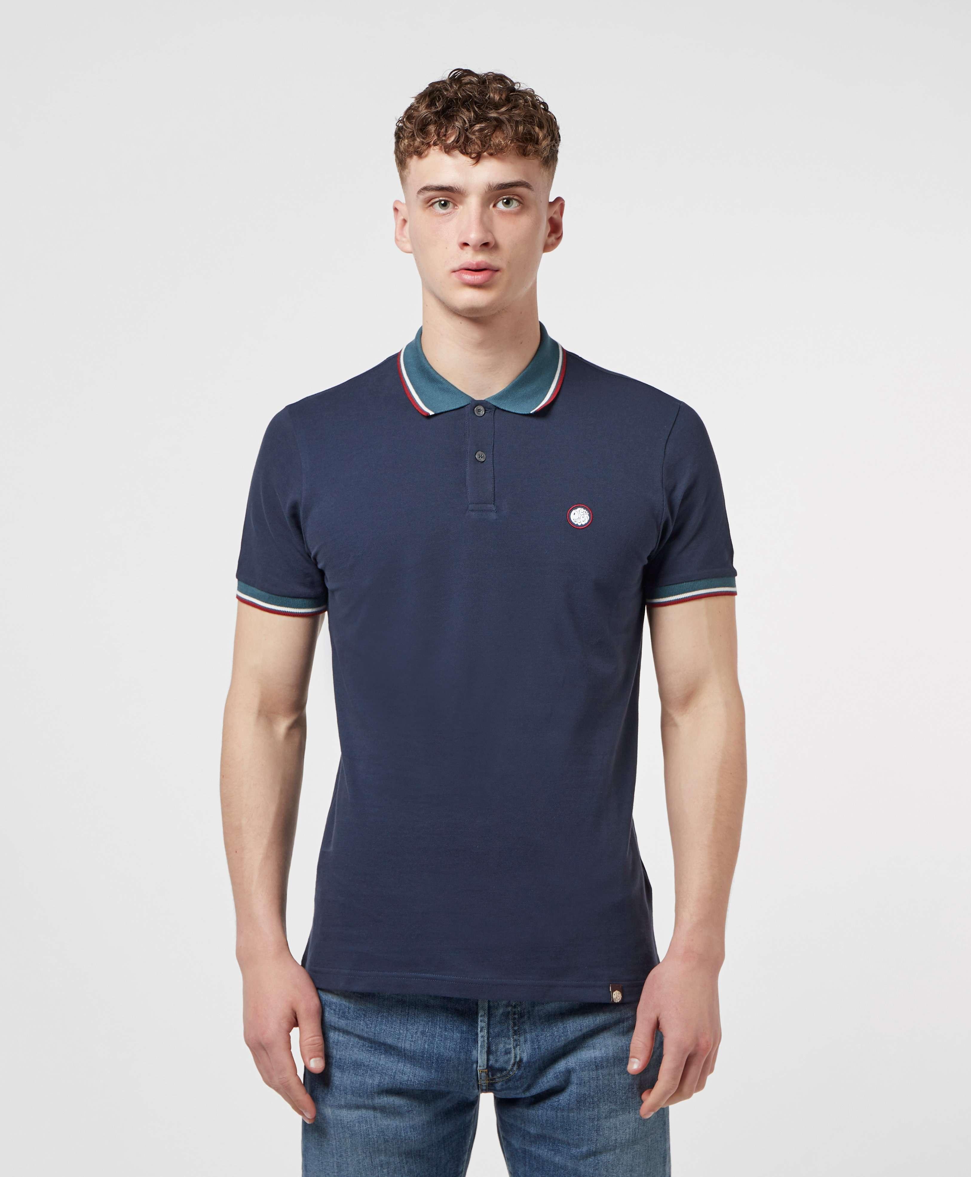 Pretty Green Barton Contrast Collar Short Sleeve Polo Shirt