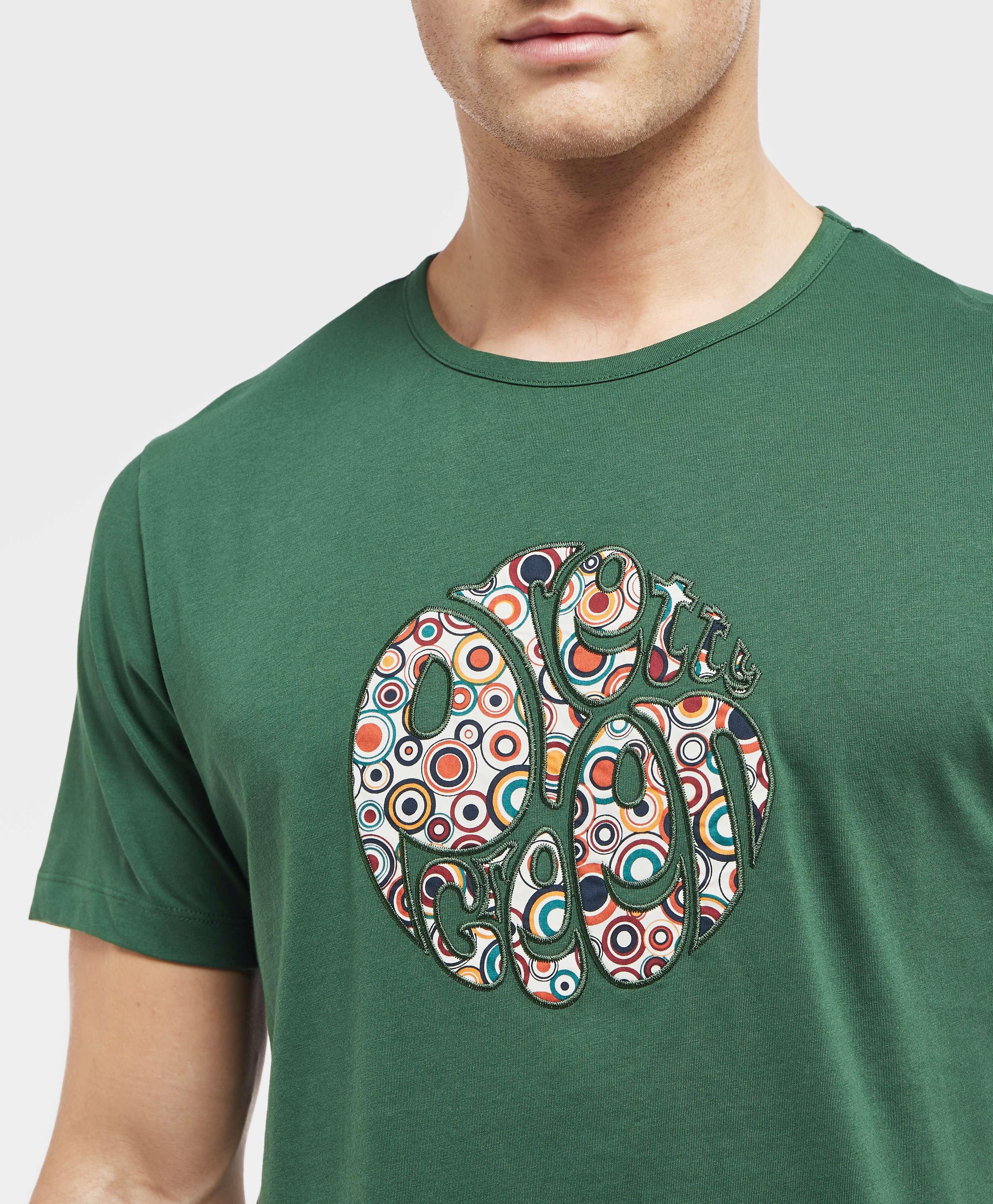Pretty Green Target Applique Short Sleeve T-Shirt