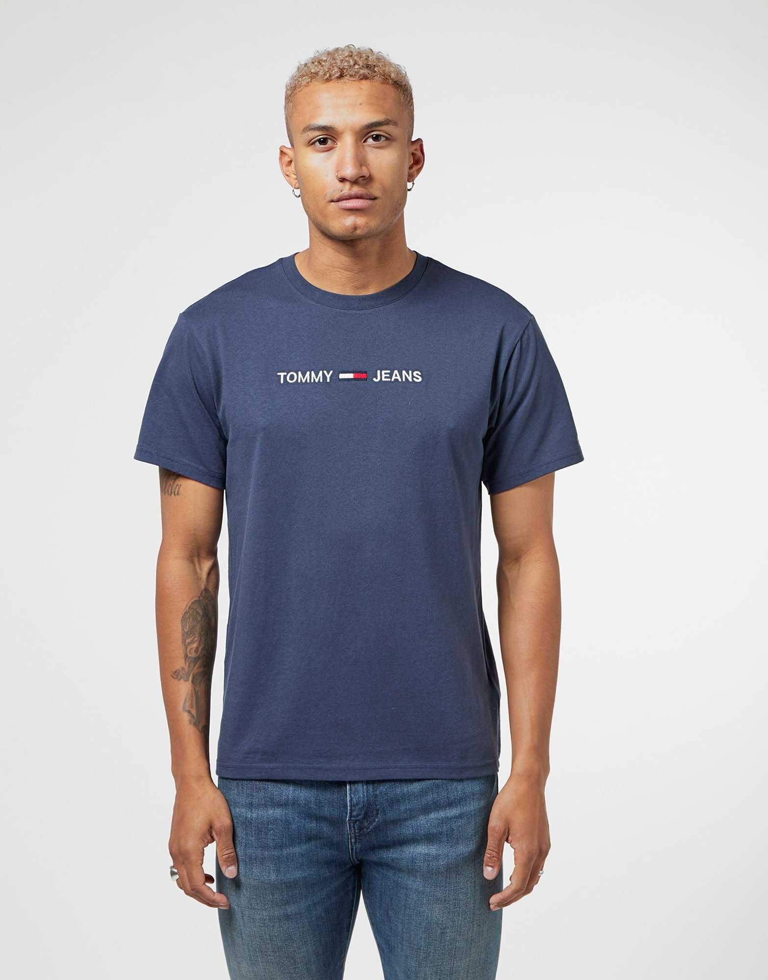 Tommy Jeans Embroidered Logo Short Sleeve T-Shirt