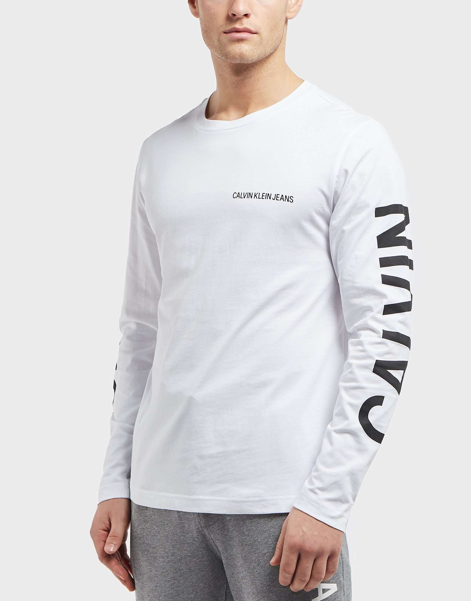 Calvin Klein Institutional Back Print Long Sleeve T-Shirt