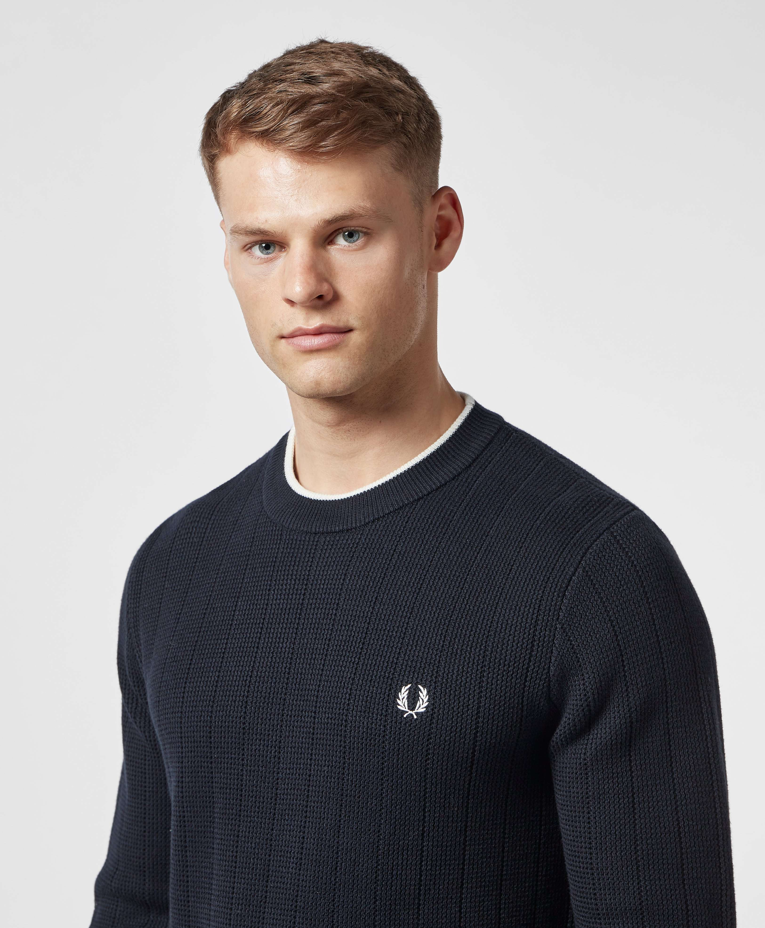 Fred Perry Textured Crew Jumper