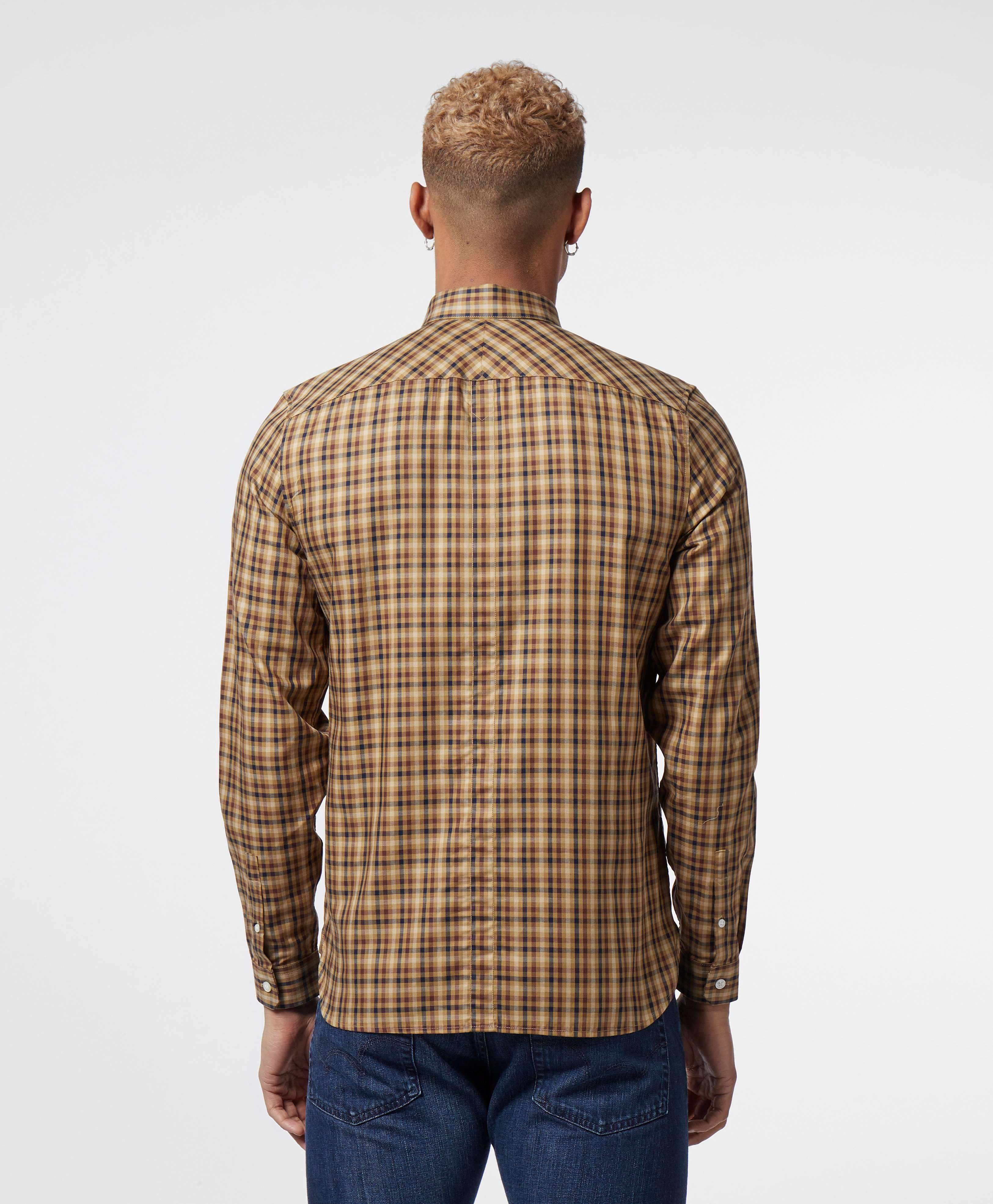 Fred Perry Twill Checked Long Sleeve Shirt