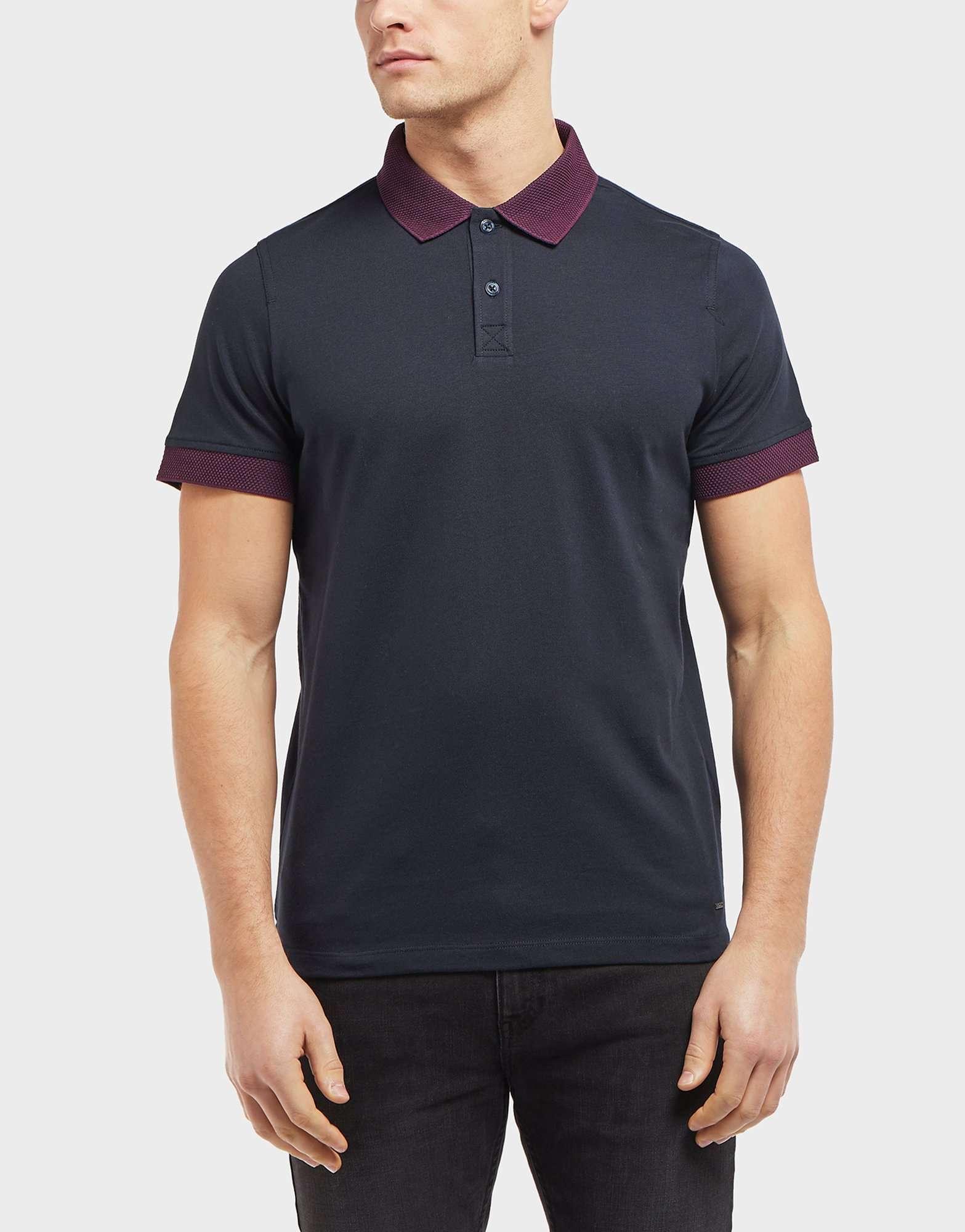 BOSS Contrast Collar Short Sleeve Polo Shirt