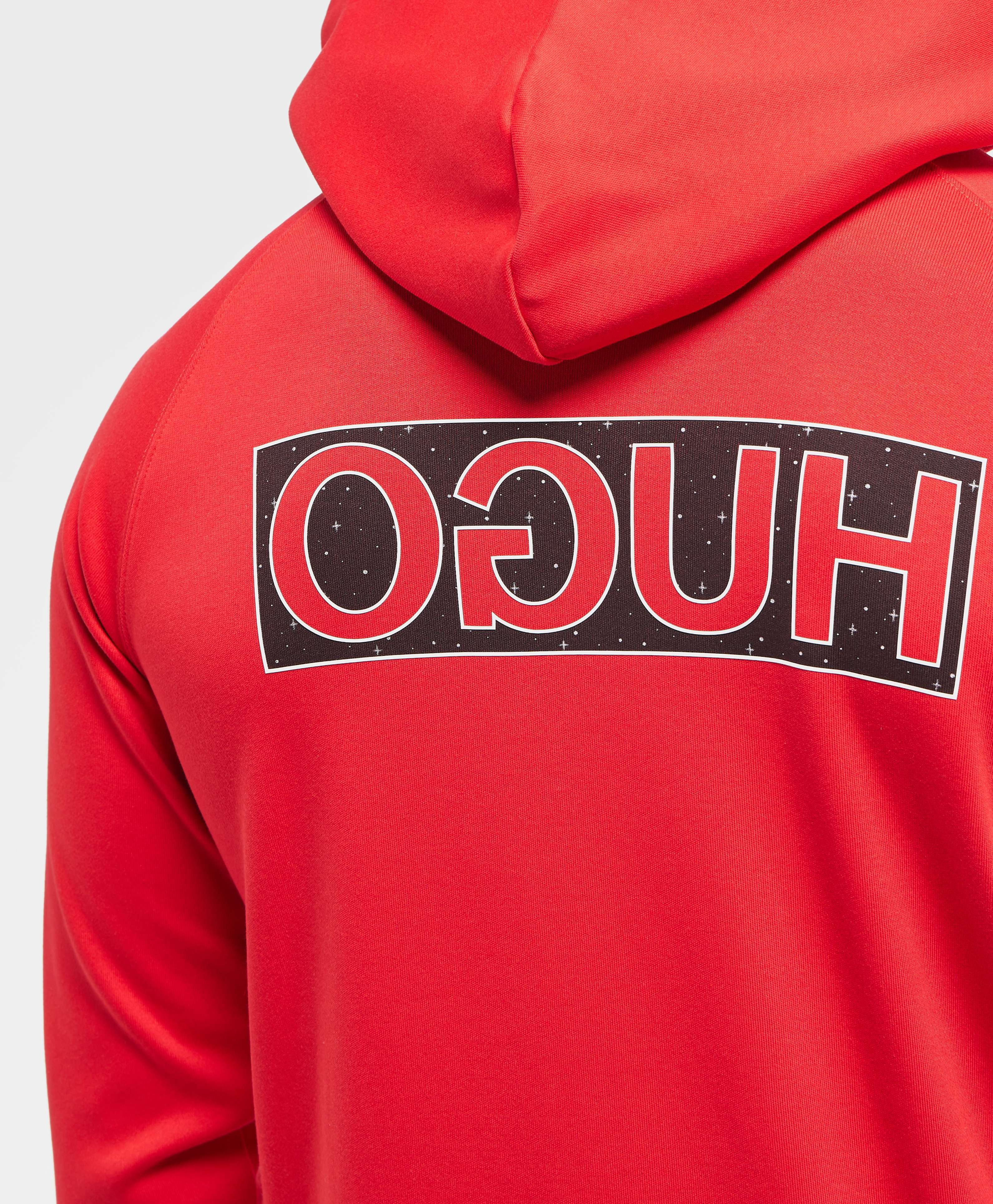 HUGO Darti Reverse Back Logo Overhead Hoodie