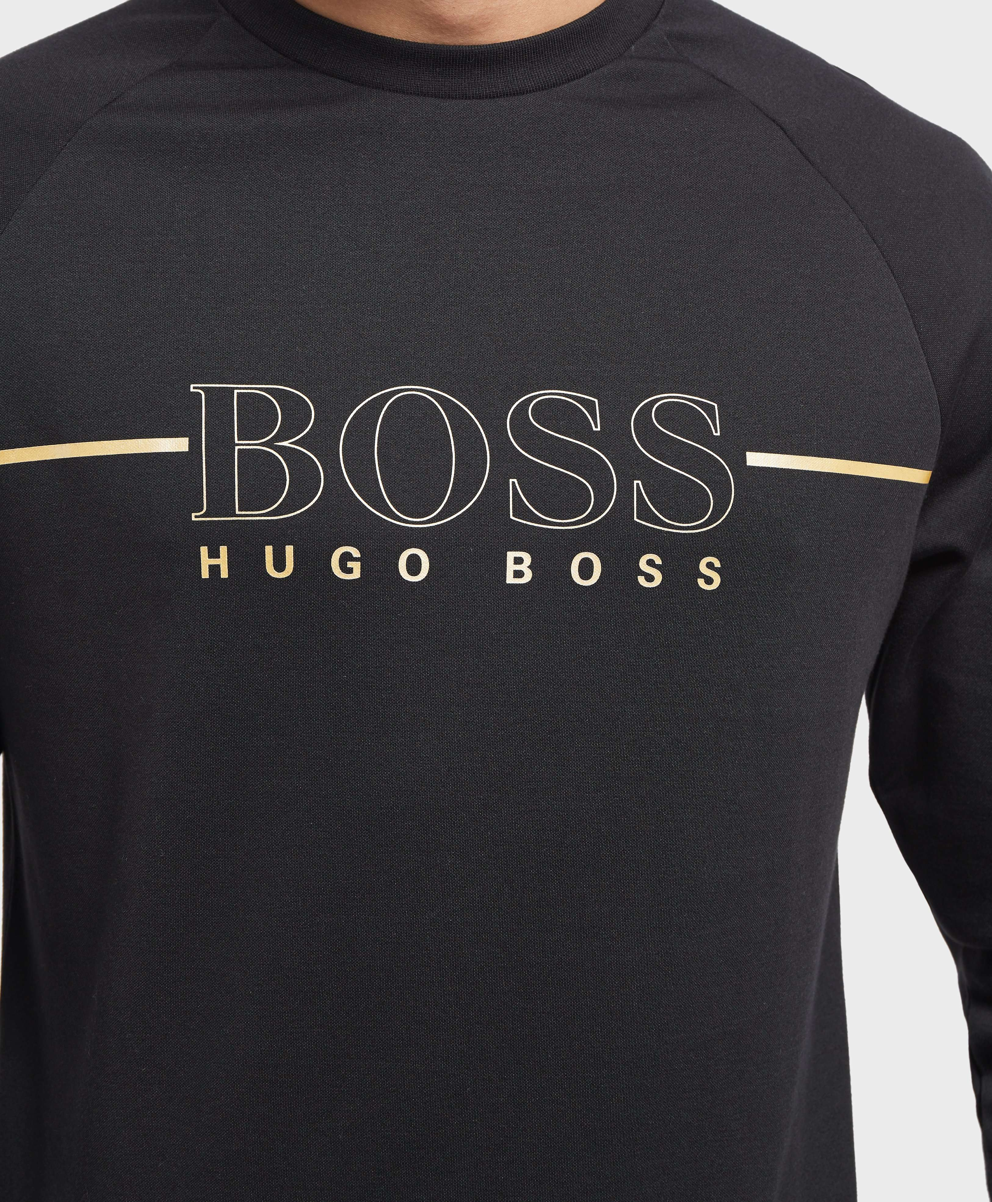BOSS Foil Logo Crew Sweatshirt