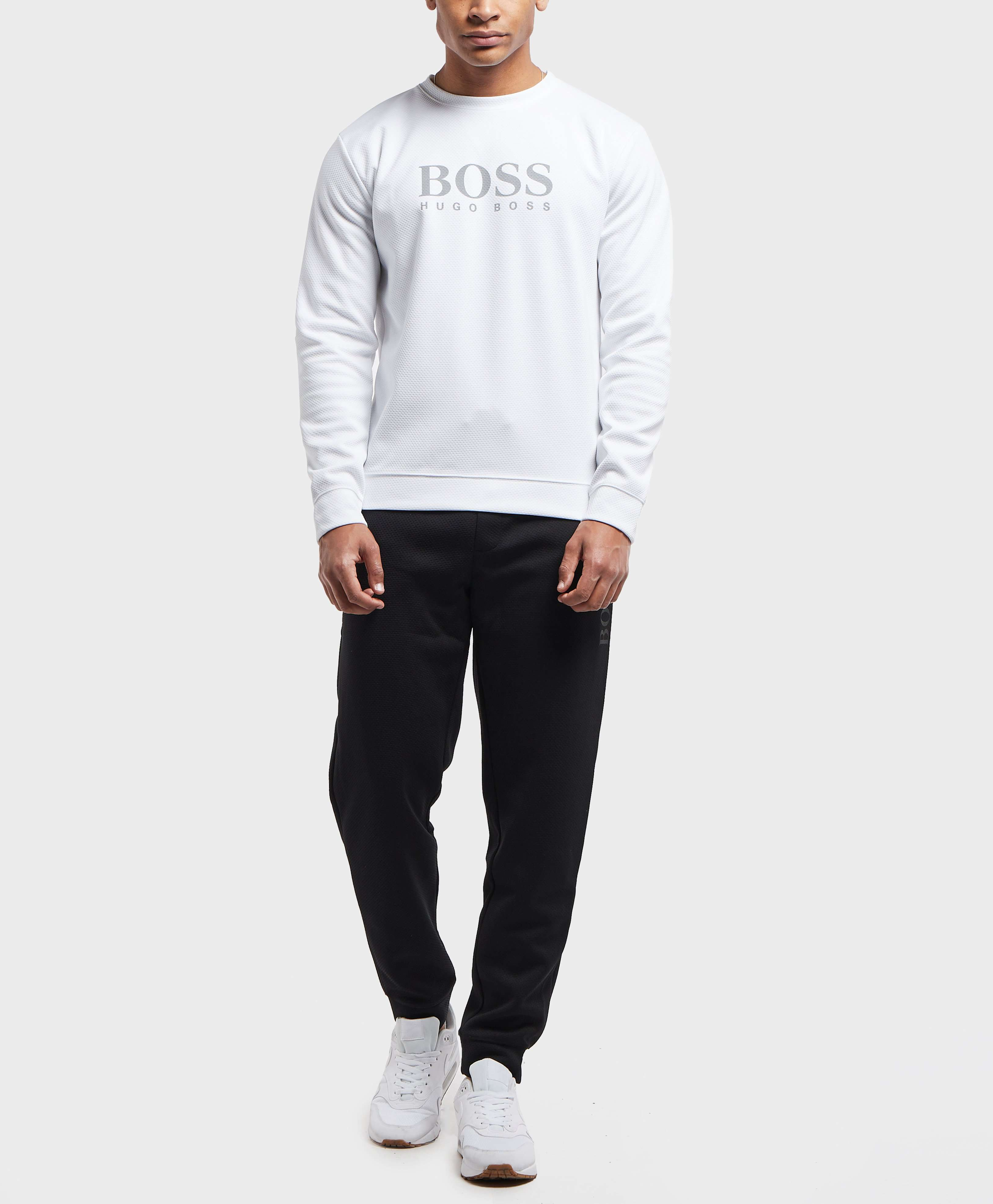 BOSS Mesh Crew Sweatshirt