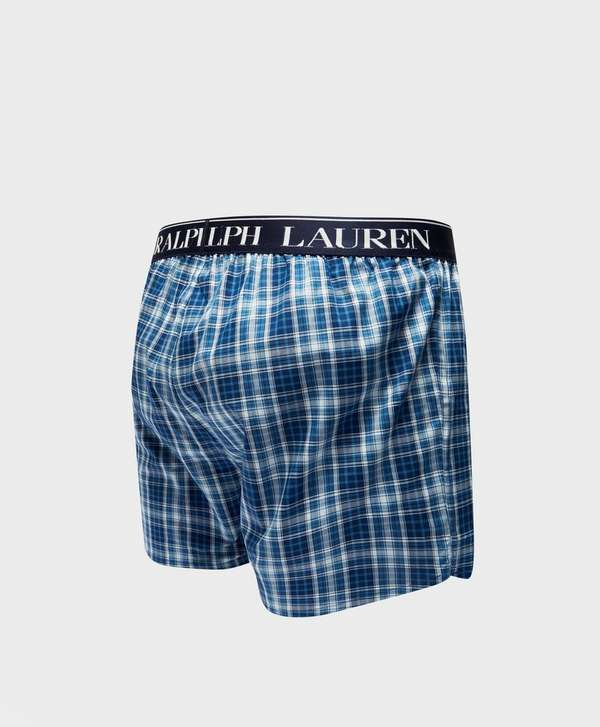 Polo Ralph Lauren Woven Check Boxer Shorts   scotts Menswear 03d42a095db