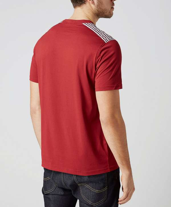 Fred Perry Gingham Shoulder Trim T-Shirt