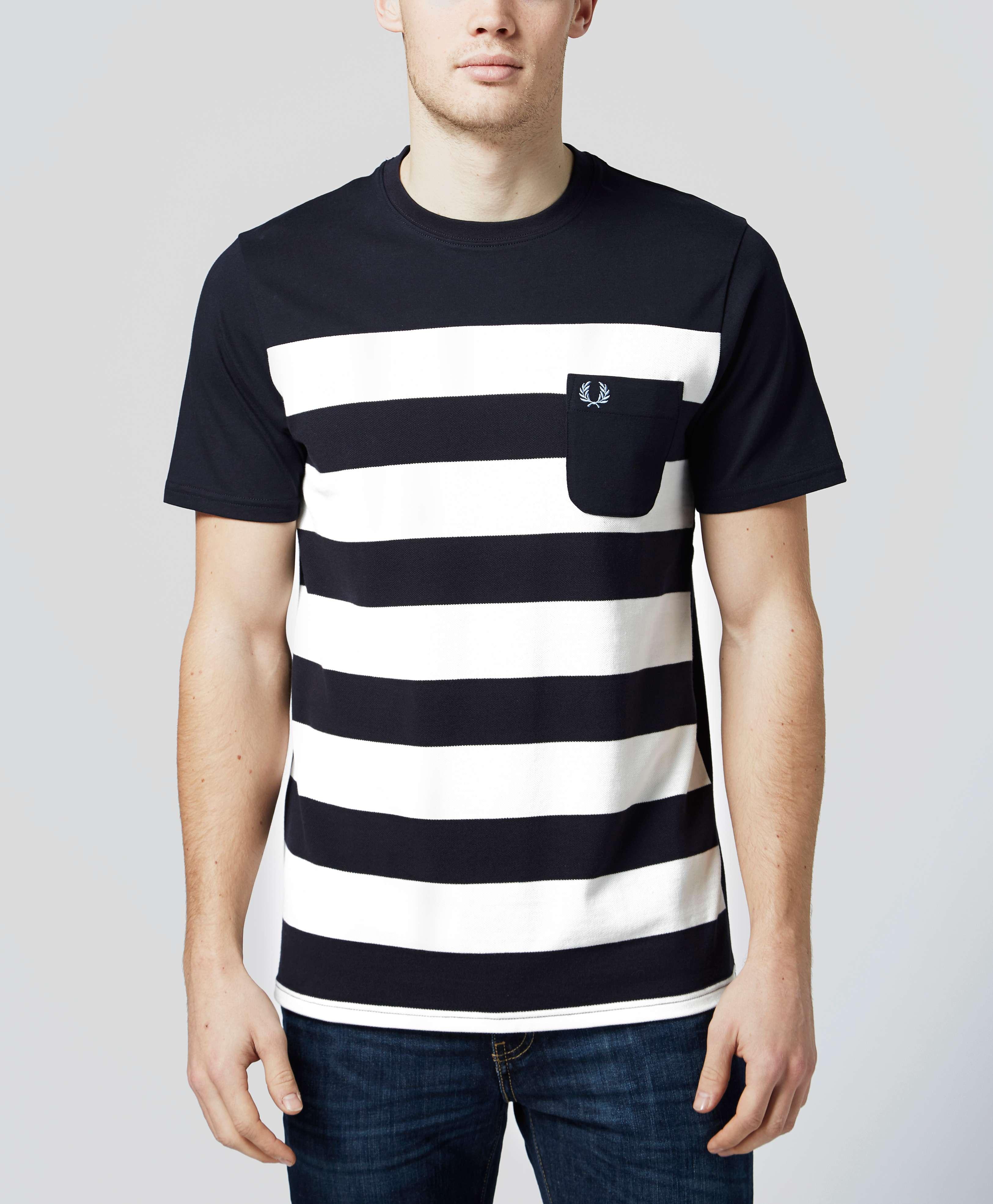 Fred Perry Pique Stripe T Shirt Scotts Menswear