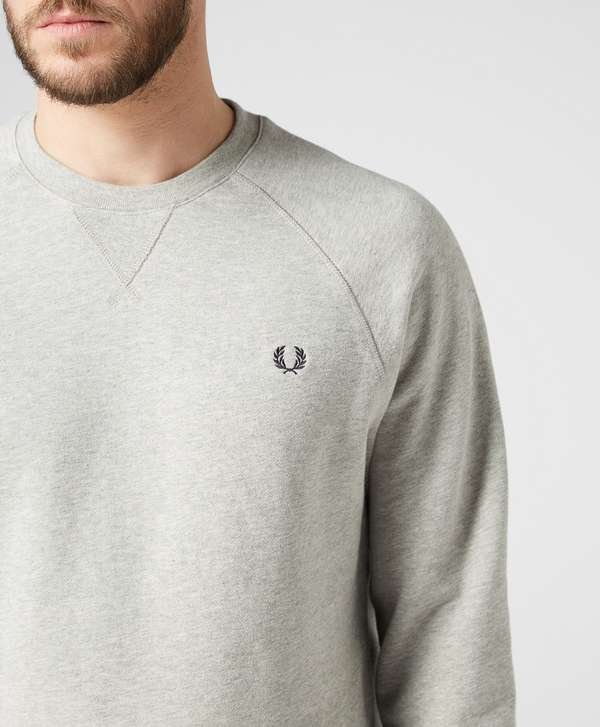 fred perry loopback crew neck sweat scotts menswear. Black Bedroom Furniture Sets. Home Design Ideas