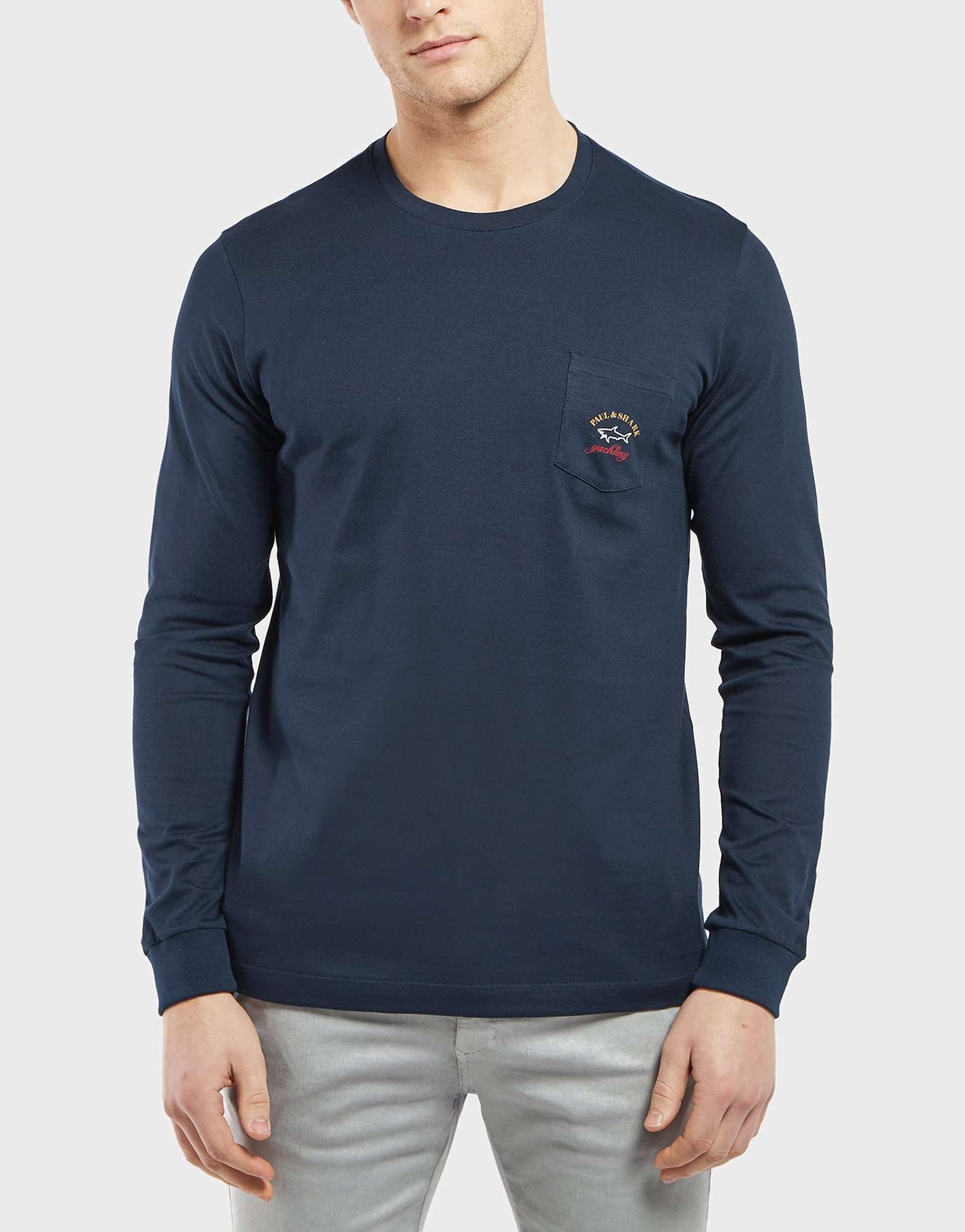 Paul and Shark Long Sleeve Pocket T-Shirt