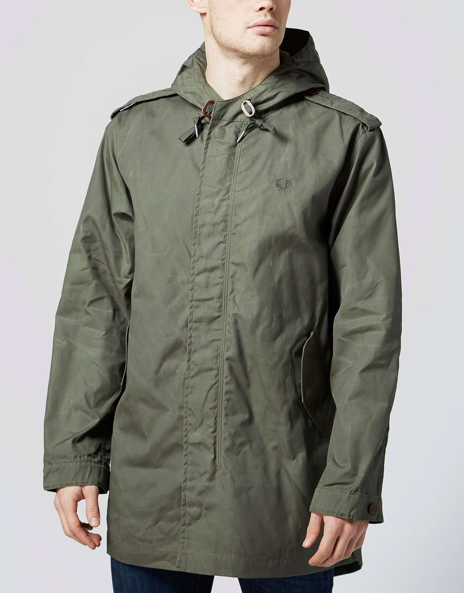 Fred Perry Waxed Fishtail Parka | scotts Menswear