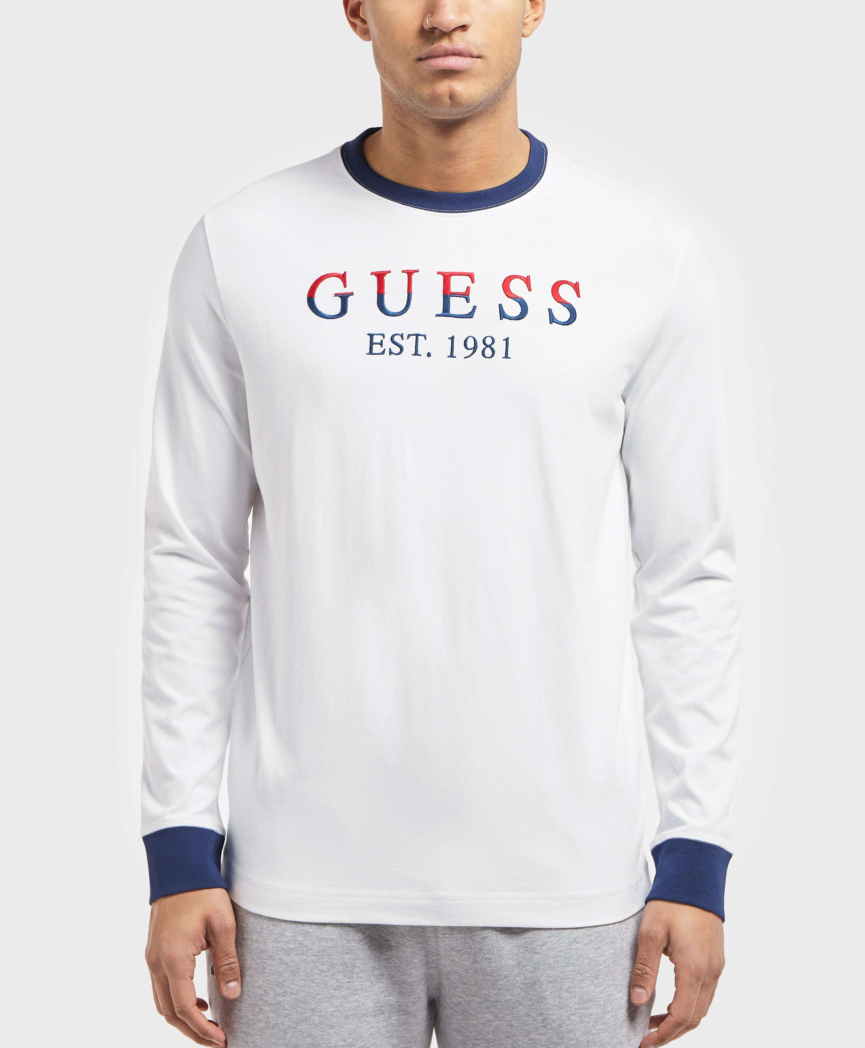 GUESS Long Sleeve Logo T-Shirt