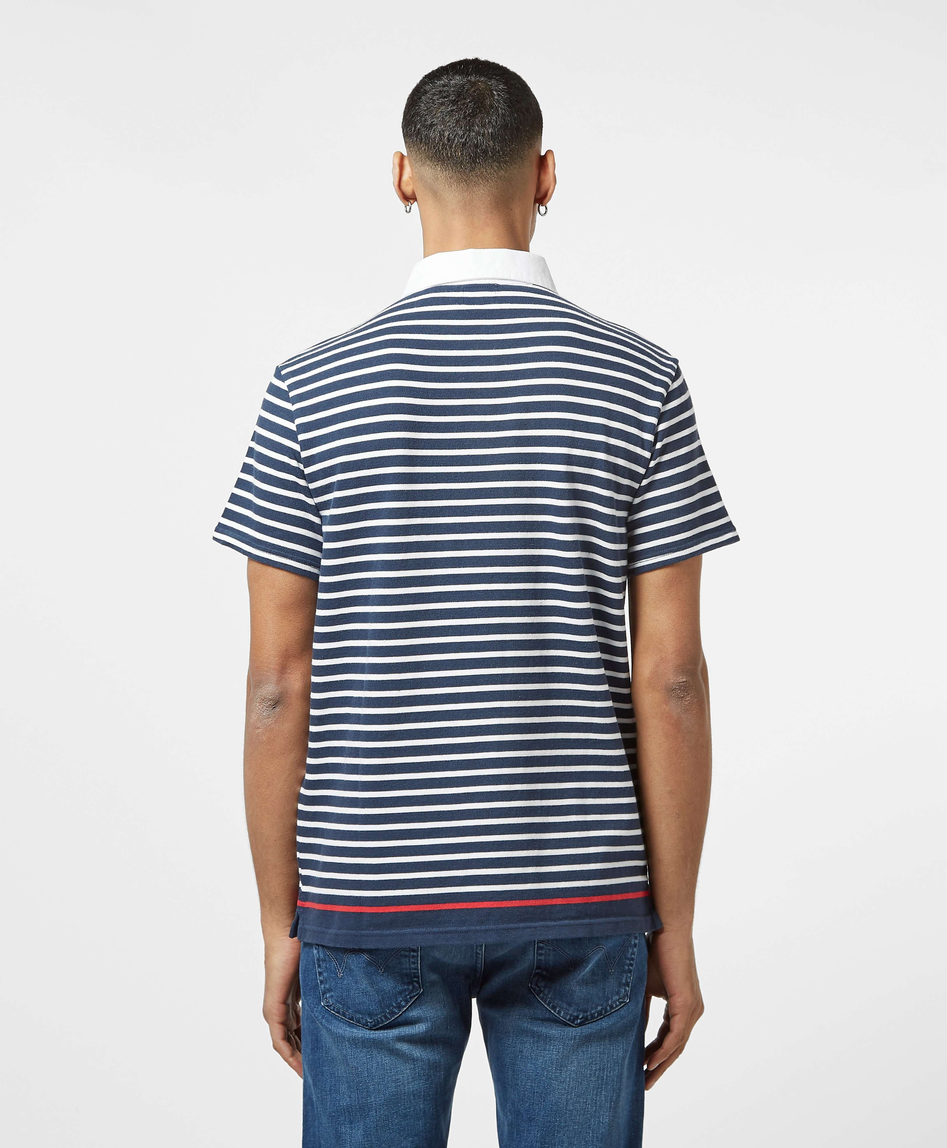 Levis Stripe Short Sleeve Rugby Polo Shirt