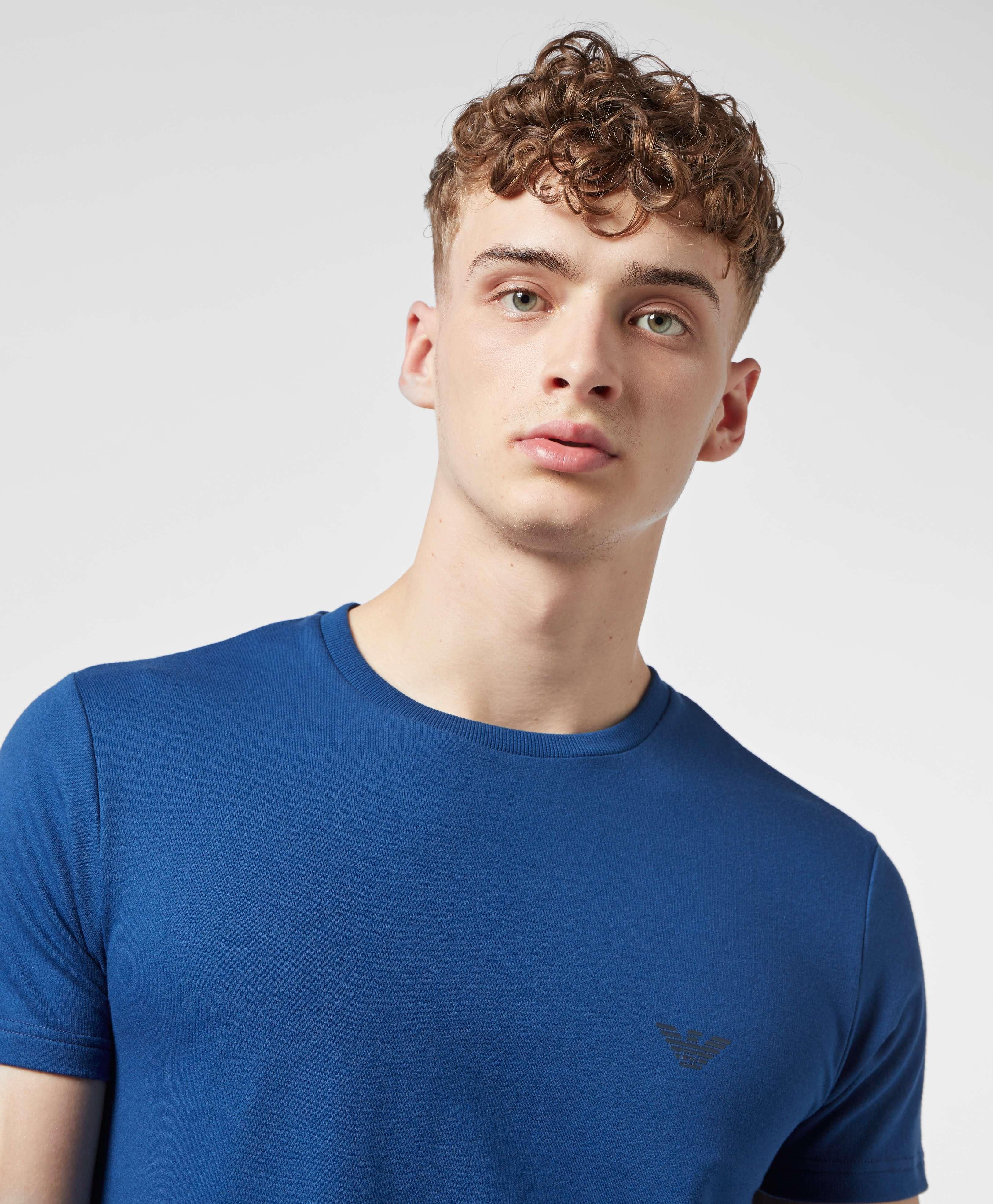 Emporio Armani All Over Back Print Short Sleeve T-Shirt