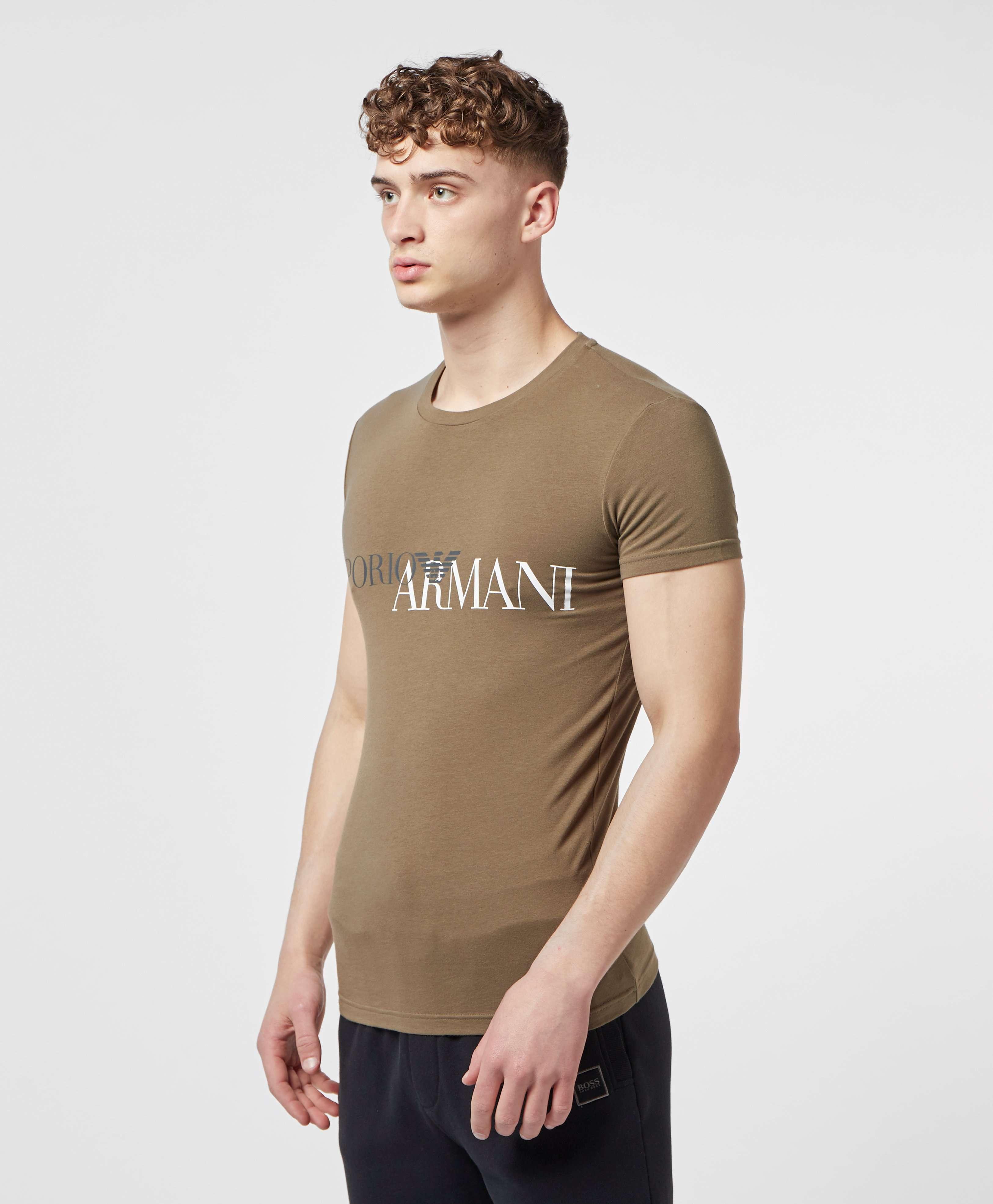 Emporio Armani Large Logo Short Sleeve T-Shirt